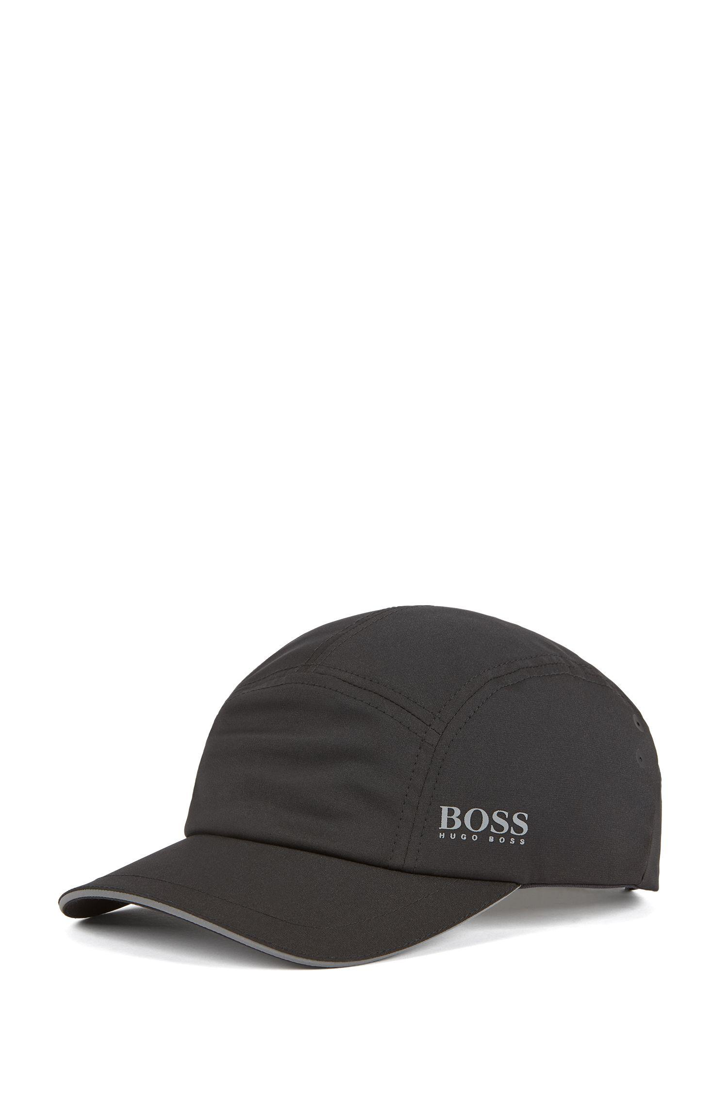 4fabb29e866 BOSS Breathable Cap In Stretch Fabric With Micro Pattern in Black ...