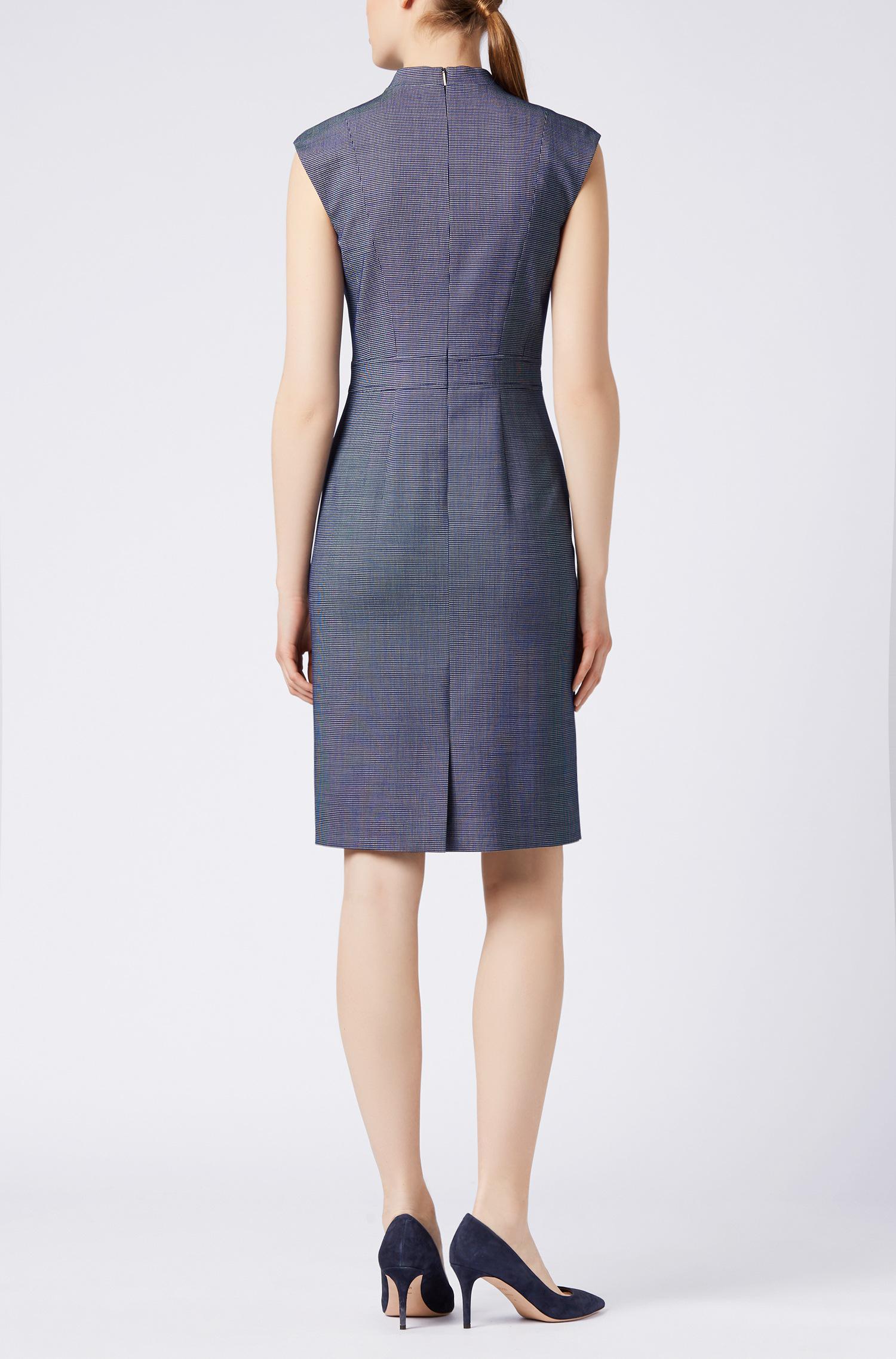 V-neck shift dress in stretch cotton BOSS z75sHObp