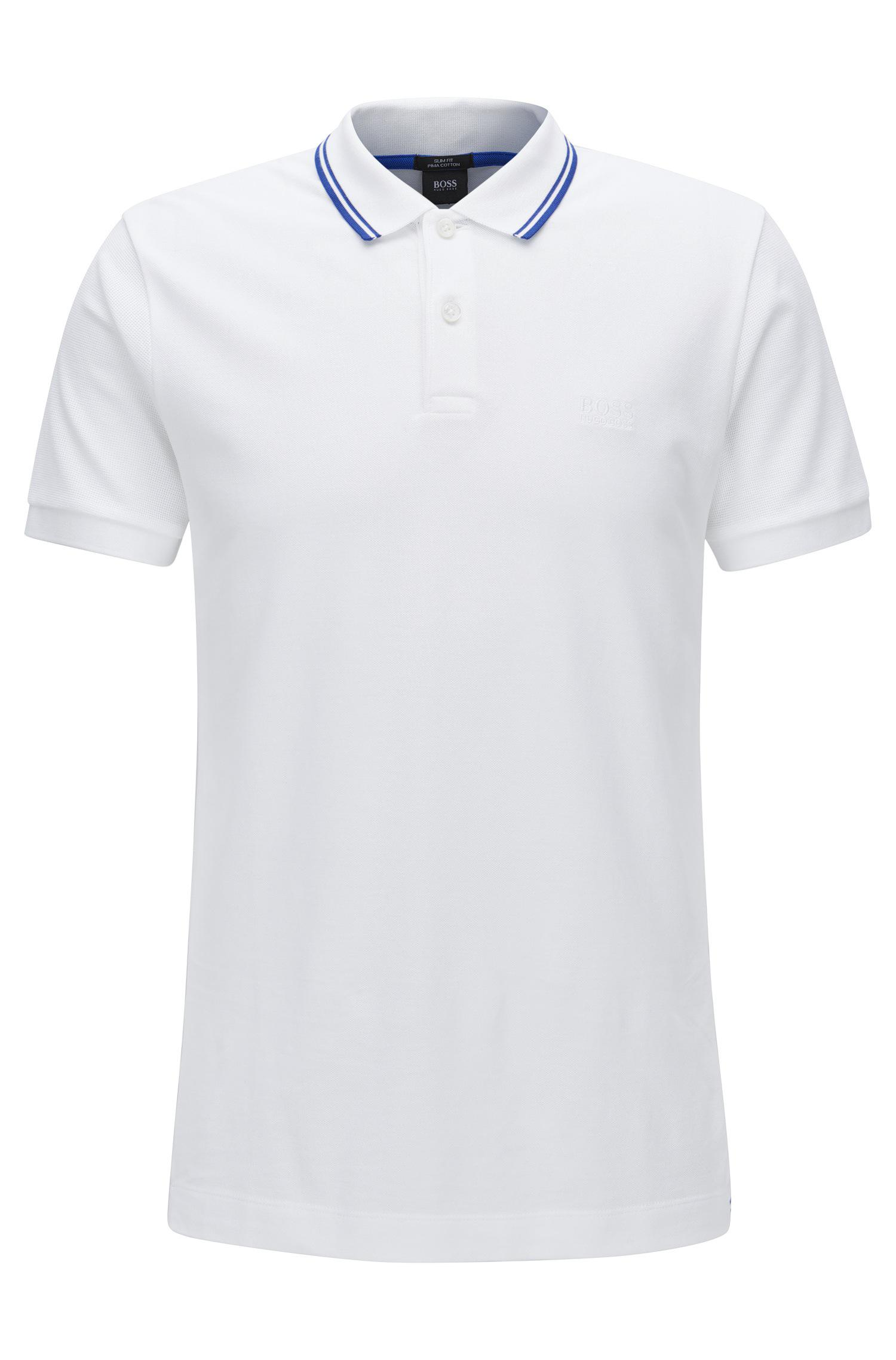 ef6523222 Lyst - Boss Piqué Pima Cotton Polo Shirt, Slim Fit | Phillipson in ...