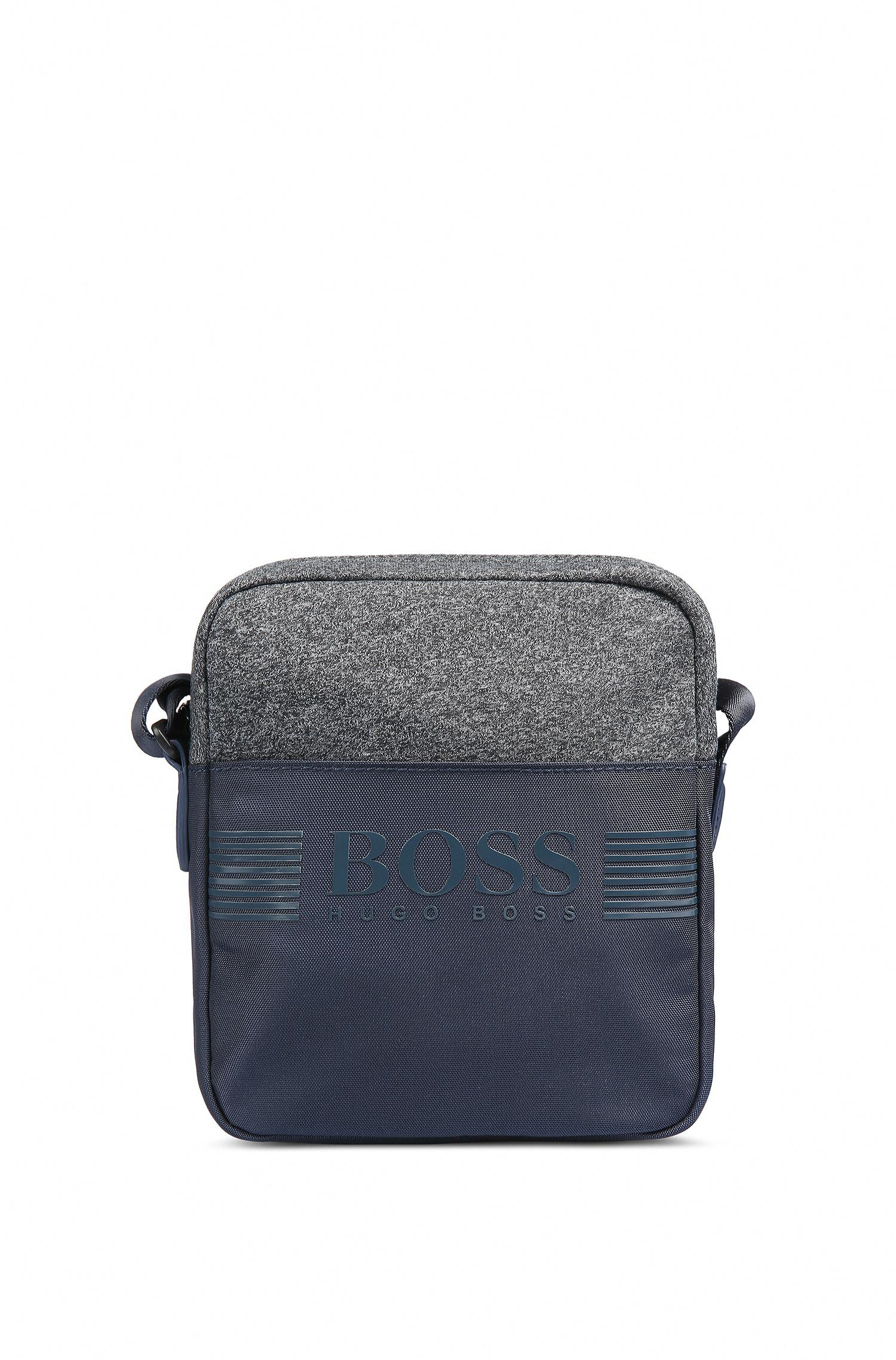 c2e0acb30e4ba Boss Green Cross-body Bag In Technical Fabric And Jersey in Blue for ...
