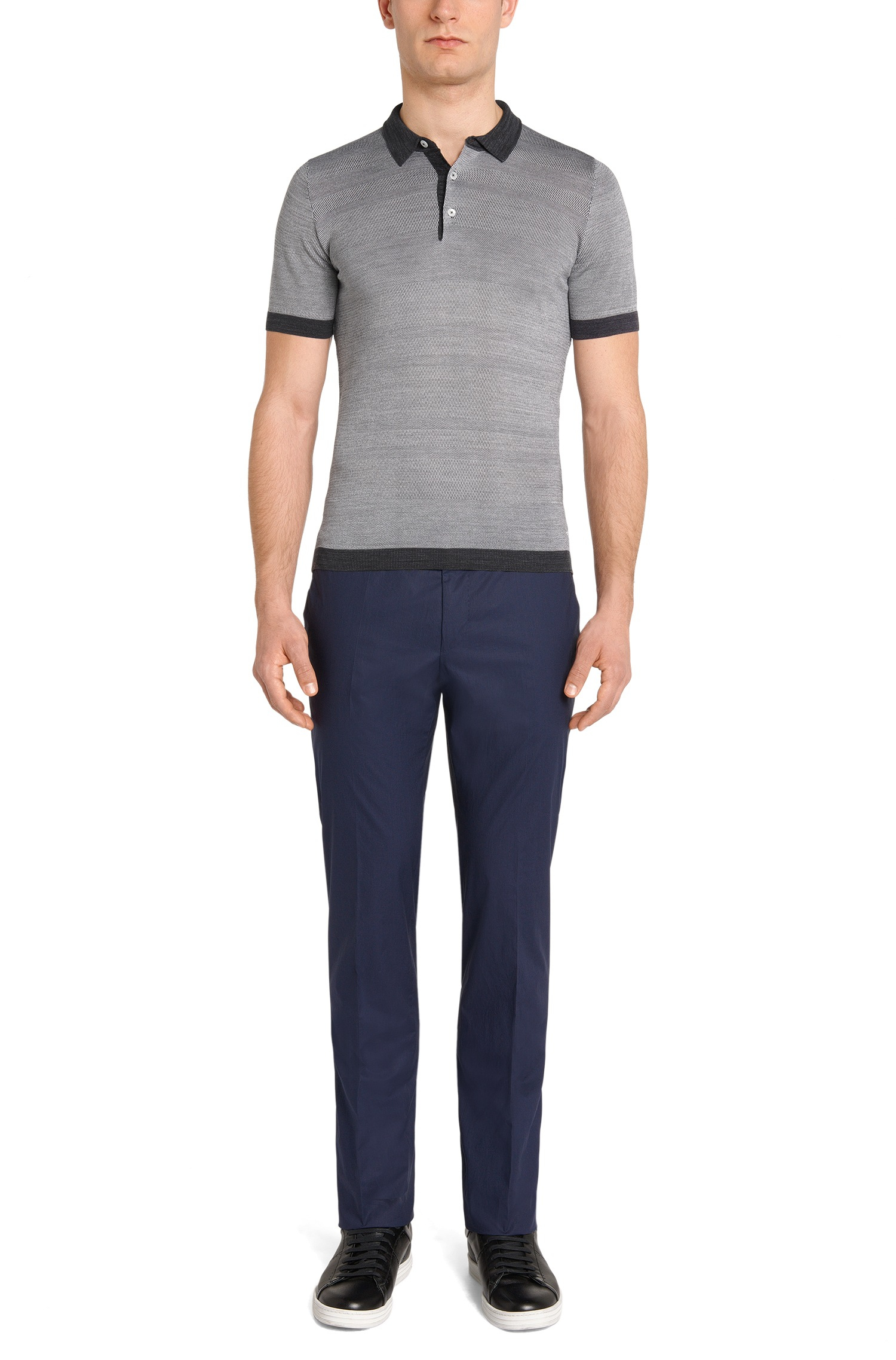 Lyst Boss 39 T Geovanni 39 Slim Fit Italian Silk Cotton