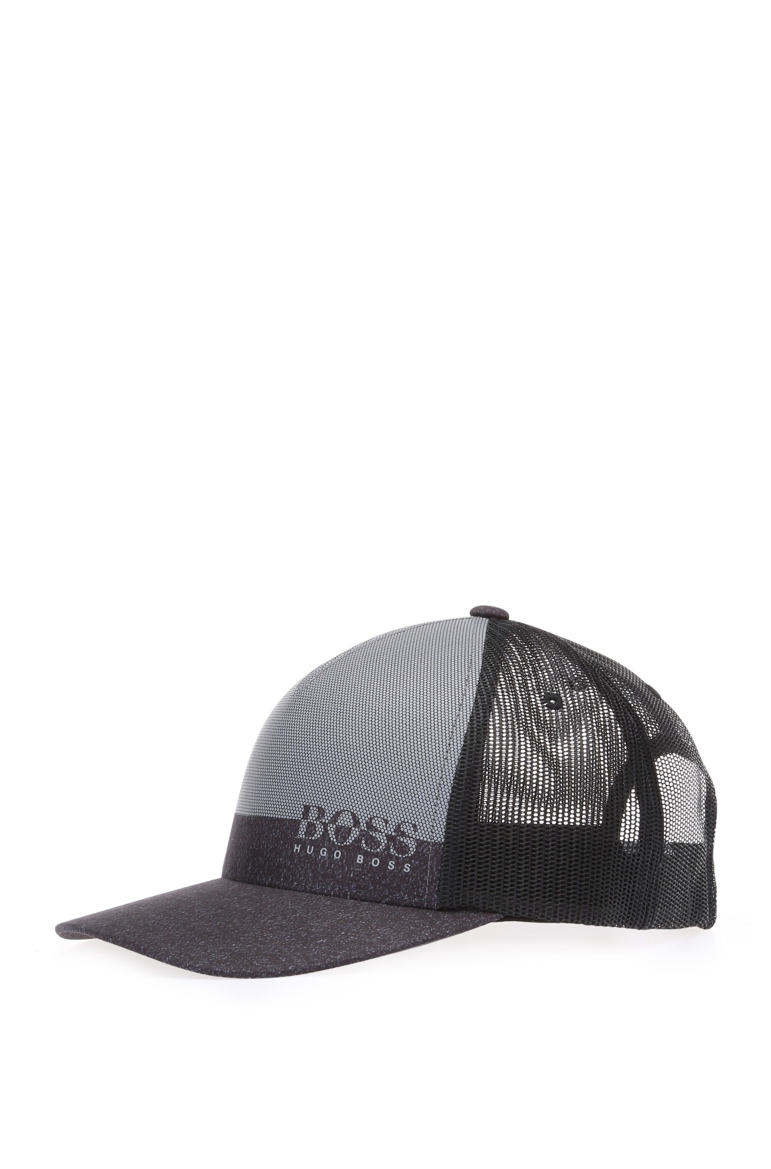 75c02299 BOSS Green '3d Print Cap' | Vented Baseball Cap in Black for Men - Lyst