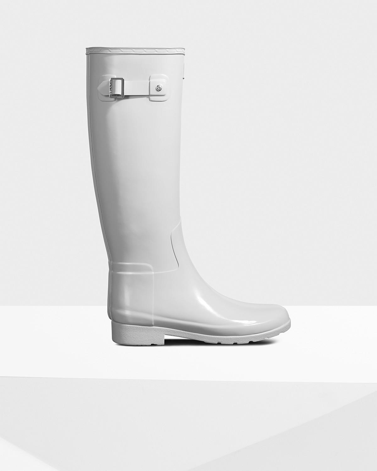 a2403a8000d Women's Refined Slim Fit Gloss Duo Rain Boots