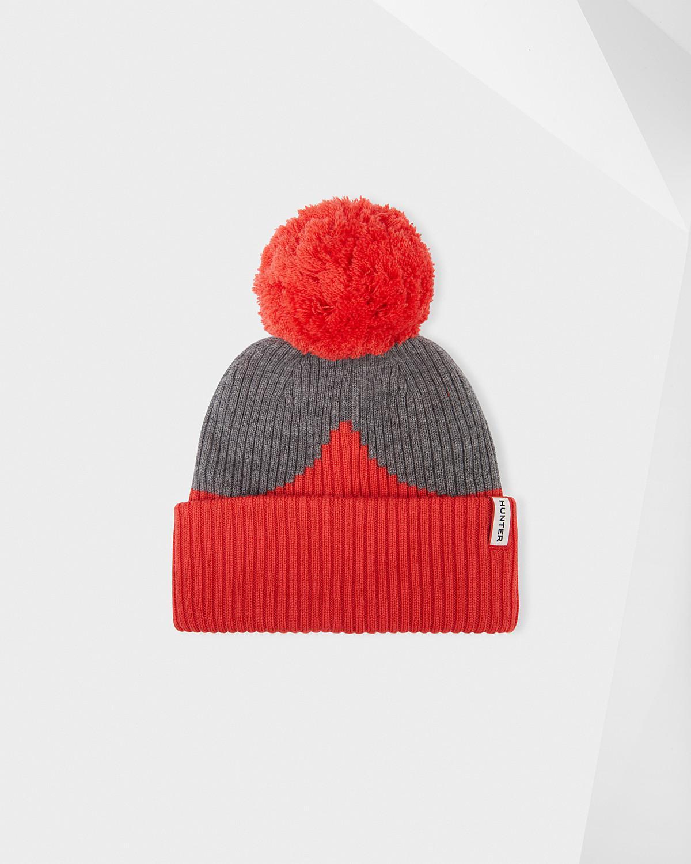 01cb867f HUNTER Unisex Original Moustache Bobble Hat in Red - Lyst