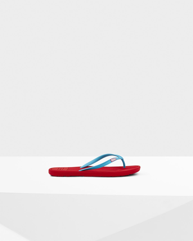89f84a83531 Lyst - HUNTER Original Flip Flop in Red