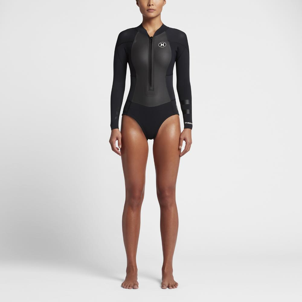 5ab9ac080d Lyst - Hurley Fusion 202 Front Zip Springsuit Wetsuit in Black