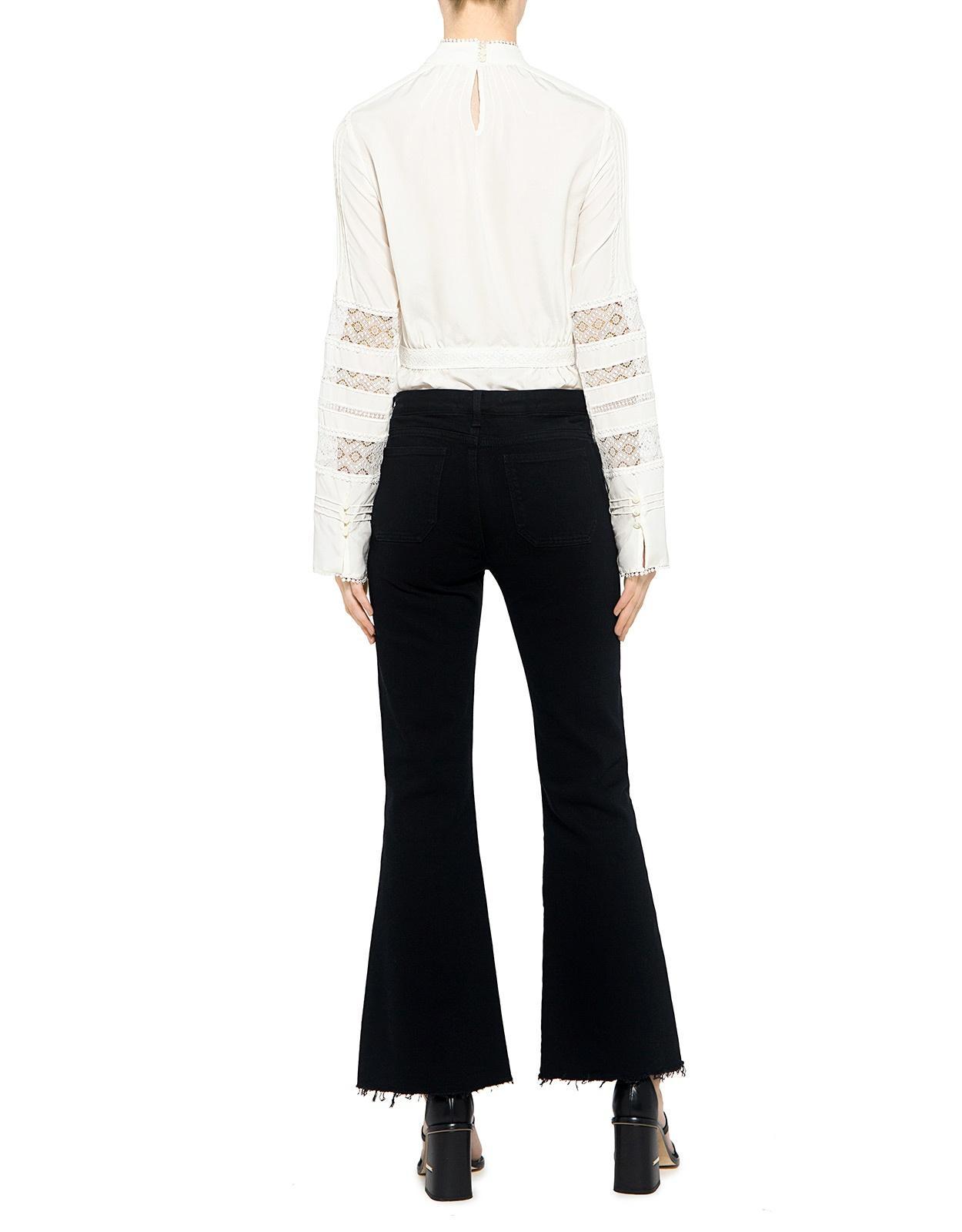 m i h jeans lou cropped flare jeans in black lyst. Black Bedroom Furniture Sets. Home Design Ideas