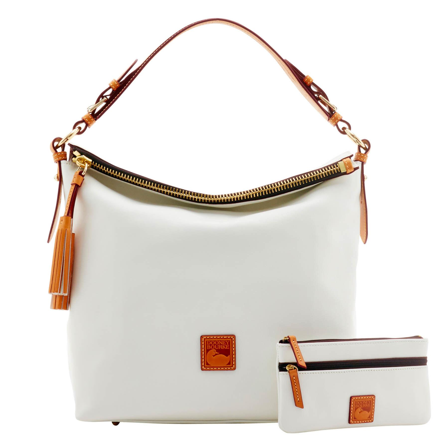 2a4f728701 Lyst - Dooney   Bourke Wexford Leather Mckenzie Hobo in White