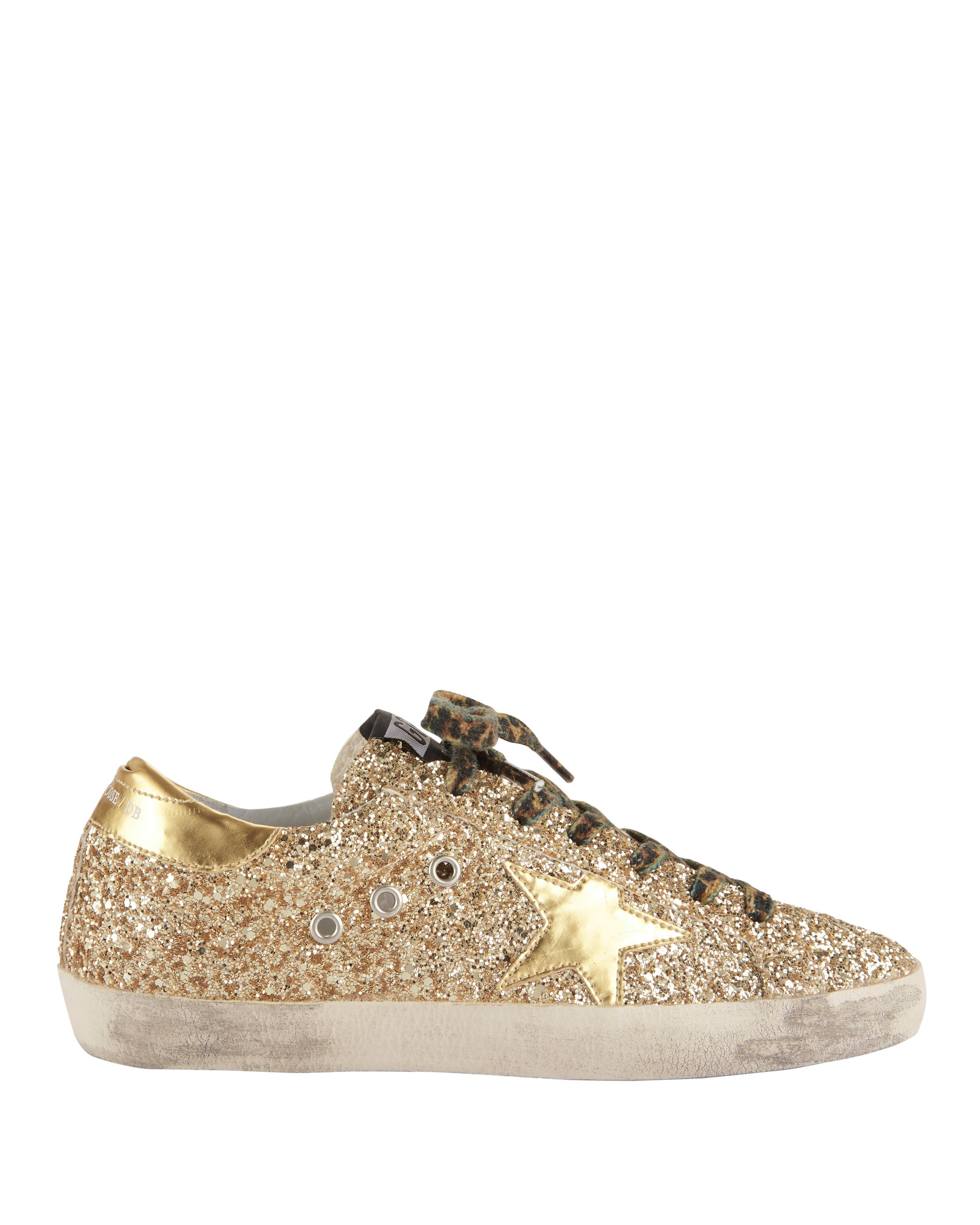 Sale - Superstar Glitter Lace-Up Trainers - Golden Goose Deluxe Brand Golden Goose Finishline Cheap Price Sale Best Store To Get Cheap Best Outlet Newest Cz8Vf5m