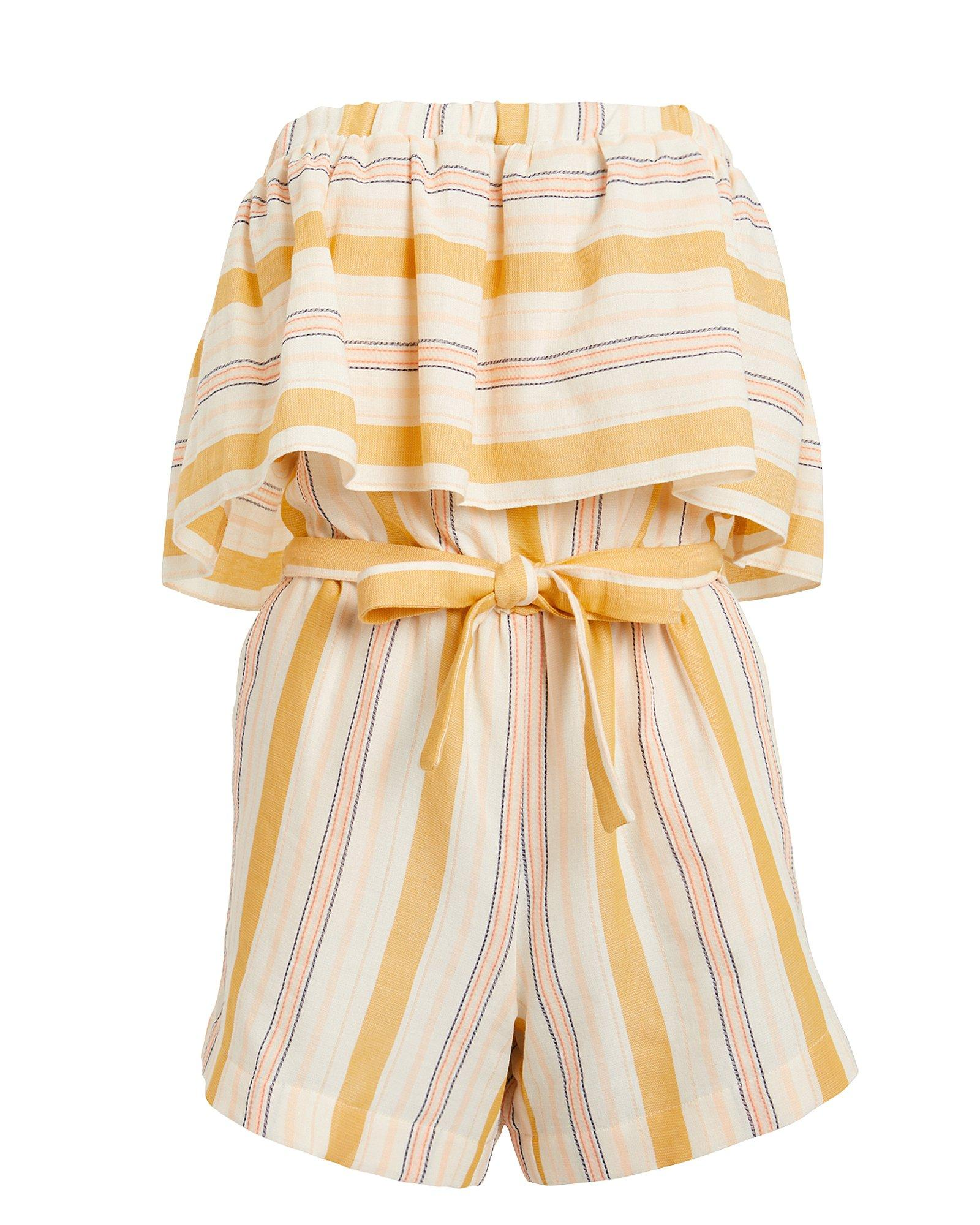 138eafb80627 Lyst - lemlem Zeritu Striped Romper in Yellow