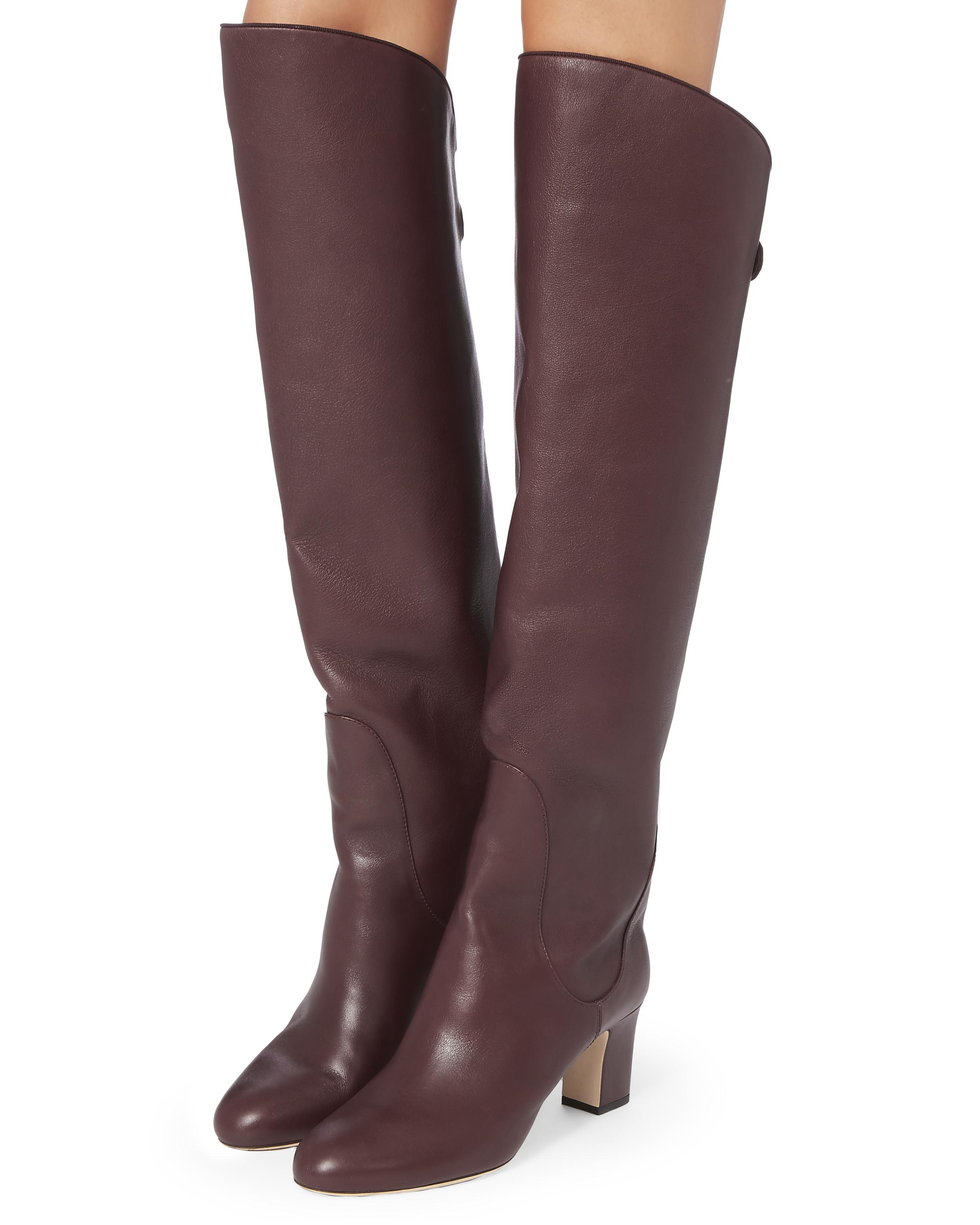 c404987ee131 Lyst - Jimmy Choo Minerva Vino Over-the-knee Boots in Red