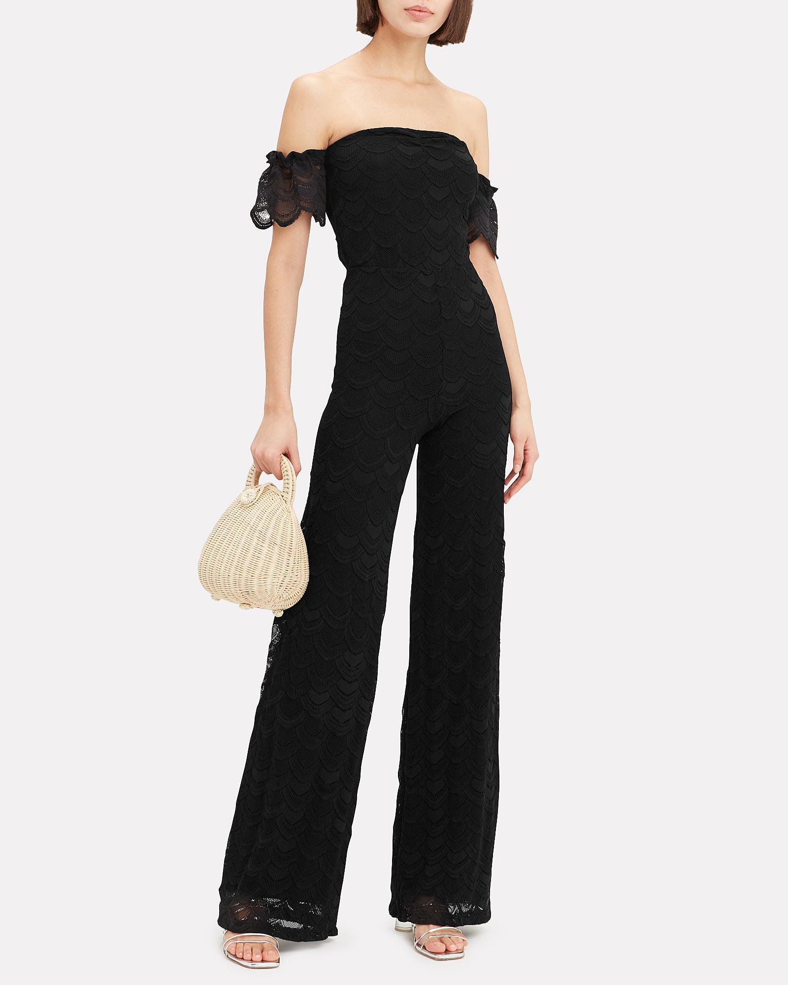 e9d5925fa4d Lyst - Nightcap Victorian Flutter Jumpsuit in Black