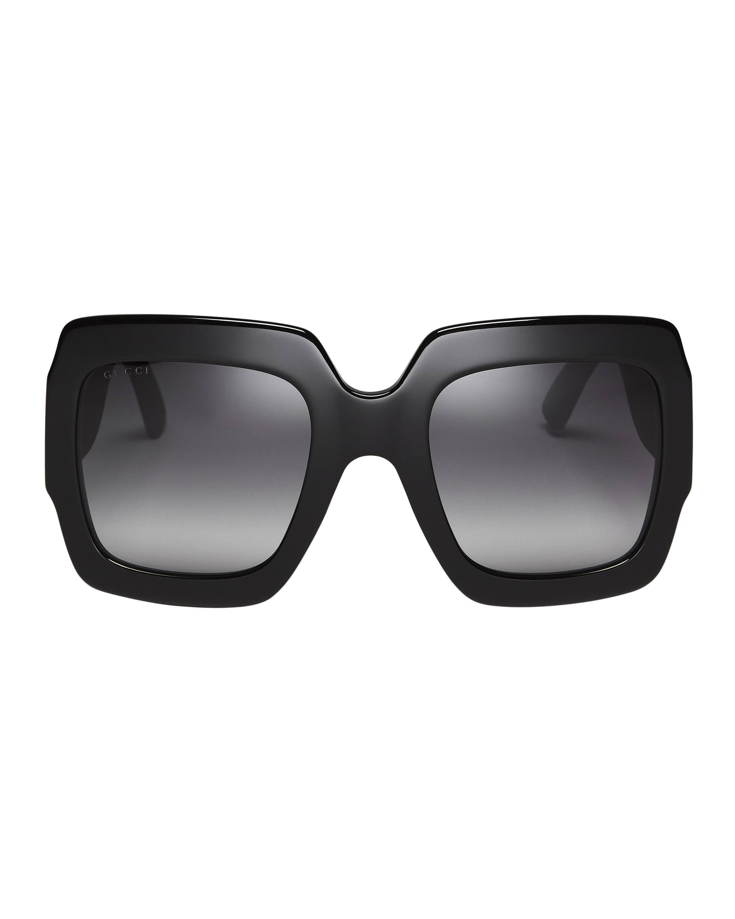 a38b6bf544 Gucci - Black Oversized Glitter Square Sunglasses - Lyst. View fullscreen