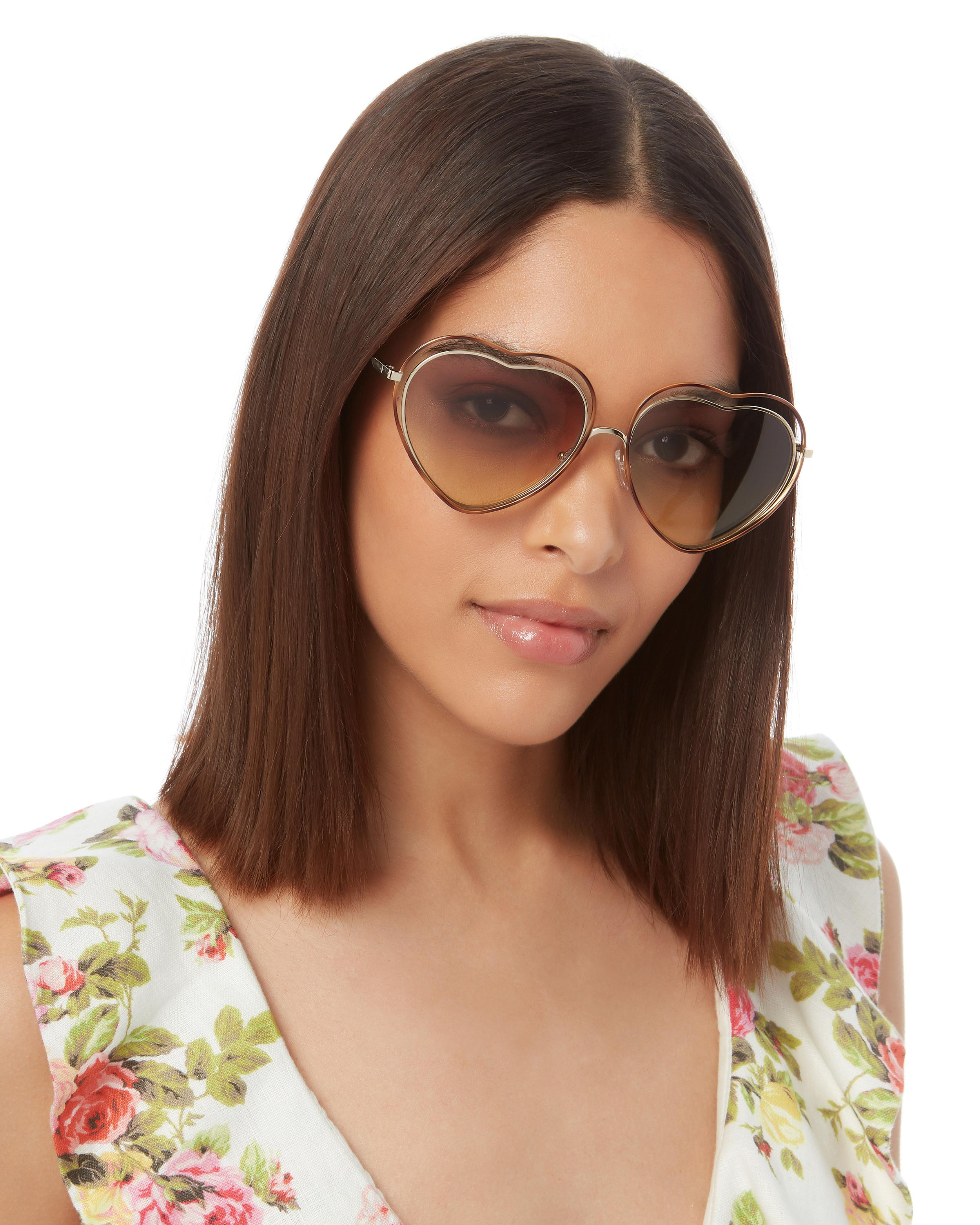99a919a190 Chloé Poppy Heart-shaped Sunglasses - Bitterroot Public Library