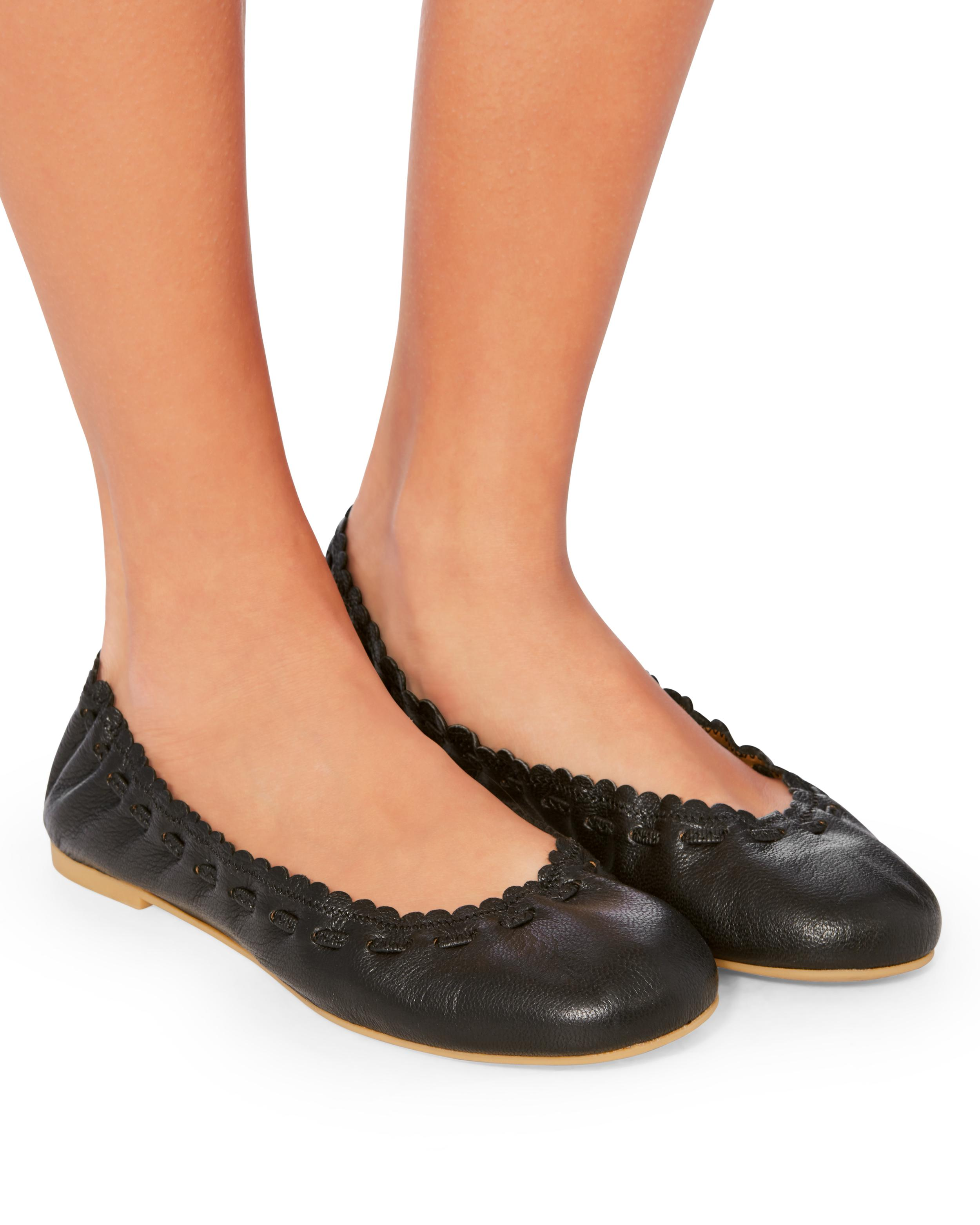 46eace560 See By Chloé Jane Leather Ballet Flats in Black - Lyst