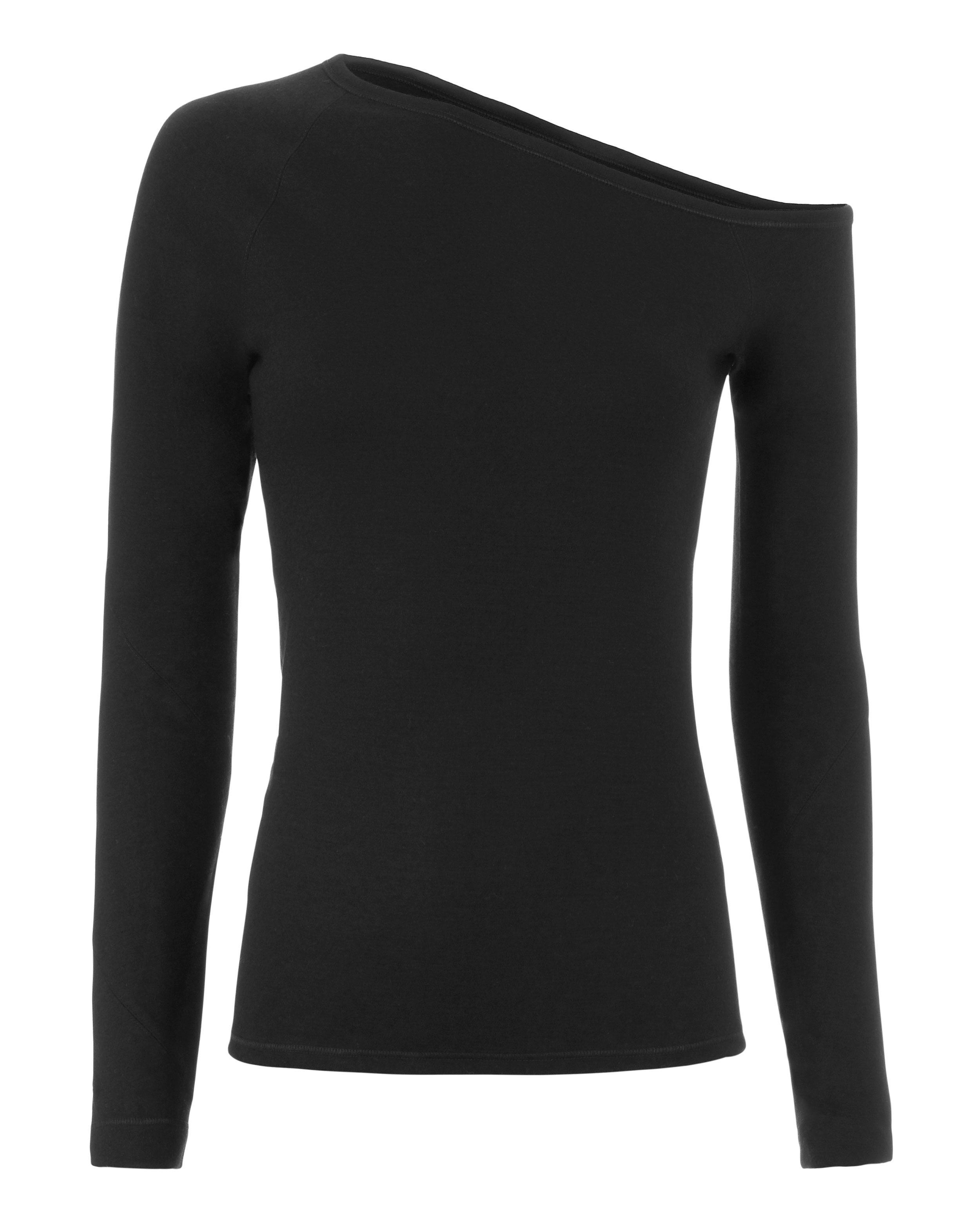 9d9f09d0e0f Helmut Lang Asymmetric Off Shoulder Top in Black - Lyst