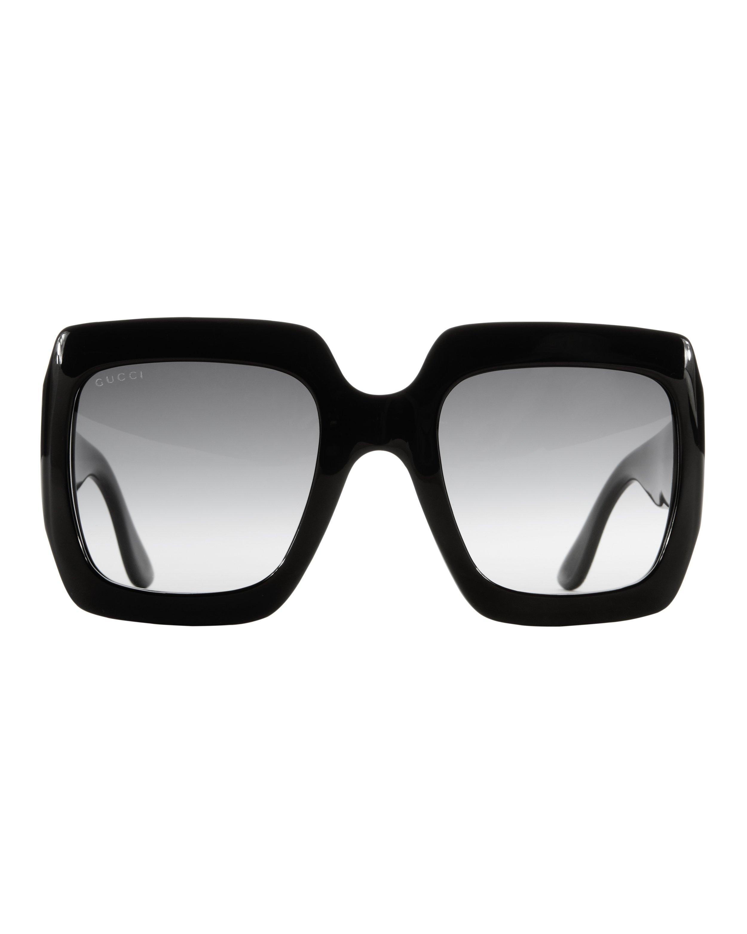 1521aecfe3 Gucci Oversized Square Sunglasses in Black - Lyst
