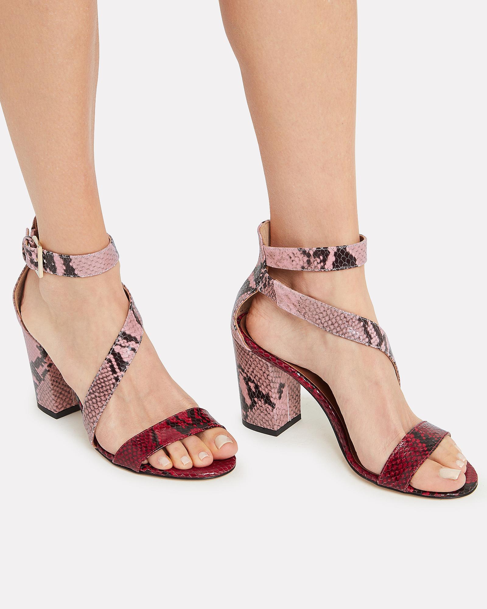 ffbecfd2ab7 Paris Texas Snakeskin Embossed Sandals Red/pink 39 in Pink - Lyst