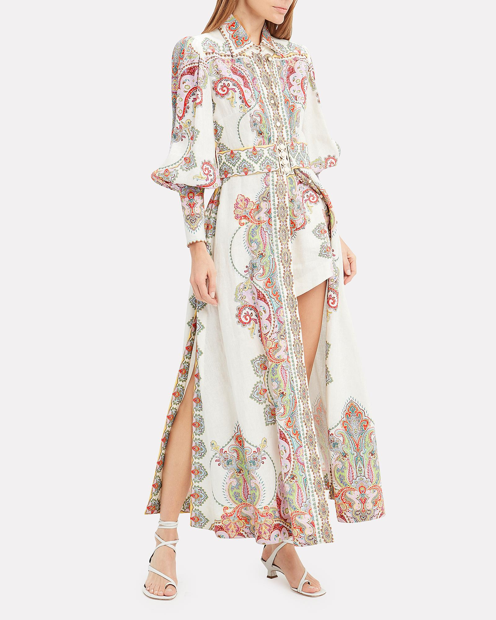 25d681341 Lyst - Zimmermann Ninety-six Paisley Maxi Dress in White