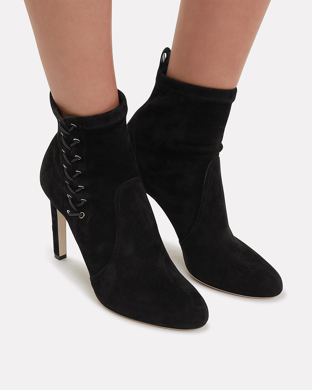 efddab26540 Lyst - Jimmy Choo Mallory Lace Side Booties in Black