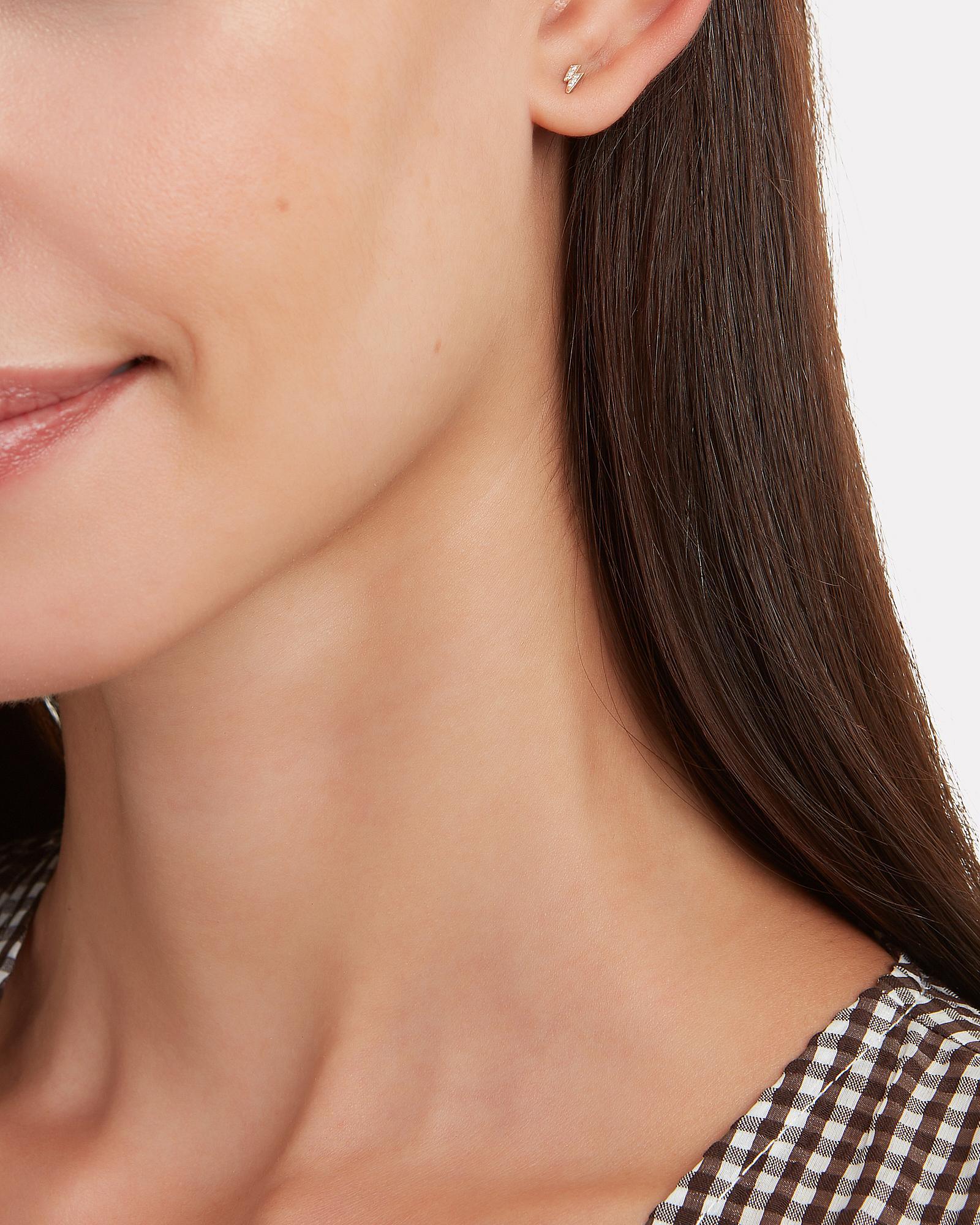 106dbe6c4 Zoe Chicco - Metallic Lightning Bolt Single Stud Earring - Lyst. View  fullscreen