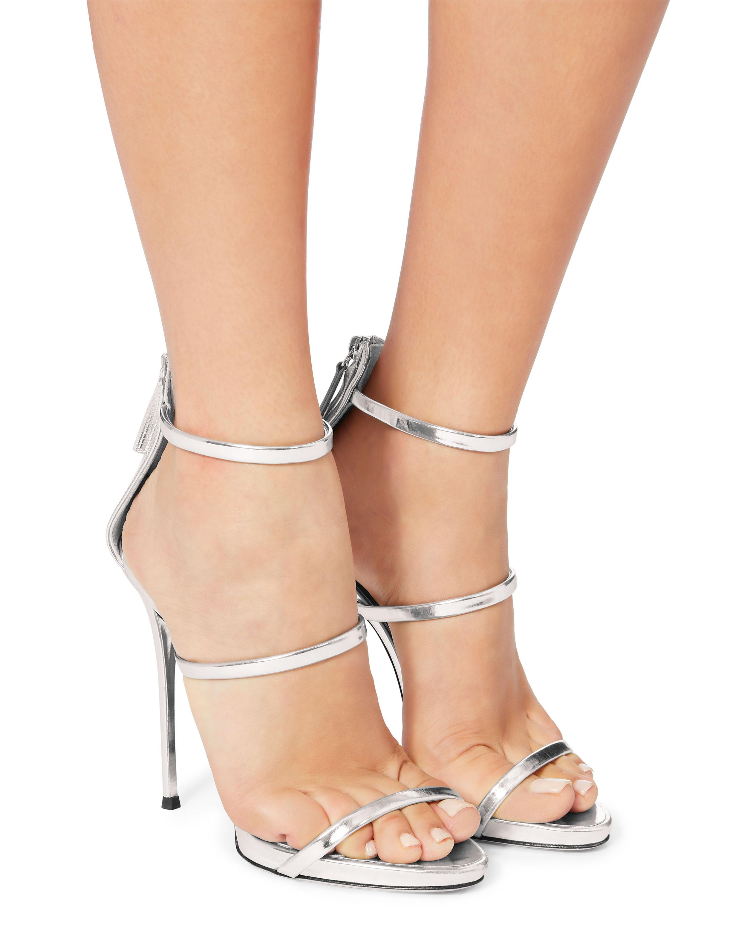 5262f42323e8 ... czech lyst giuseppe zanotti harmony 120 silver metallic leather sandals  in metallic save 42.72189349112426 d5ce9 8aa9a
