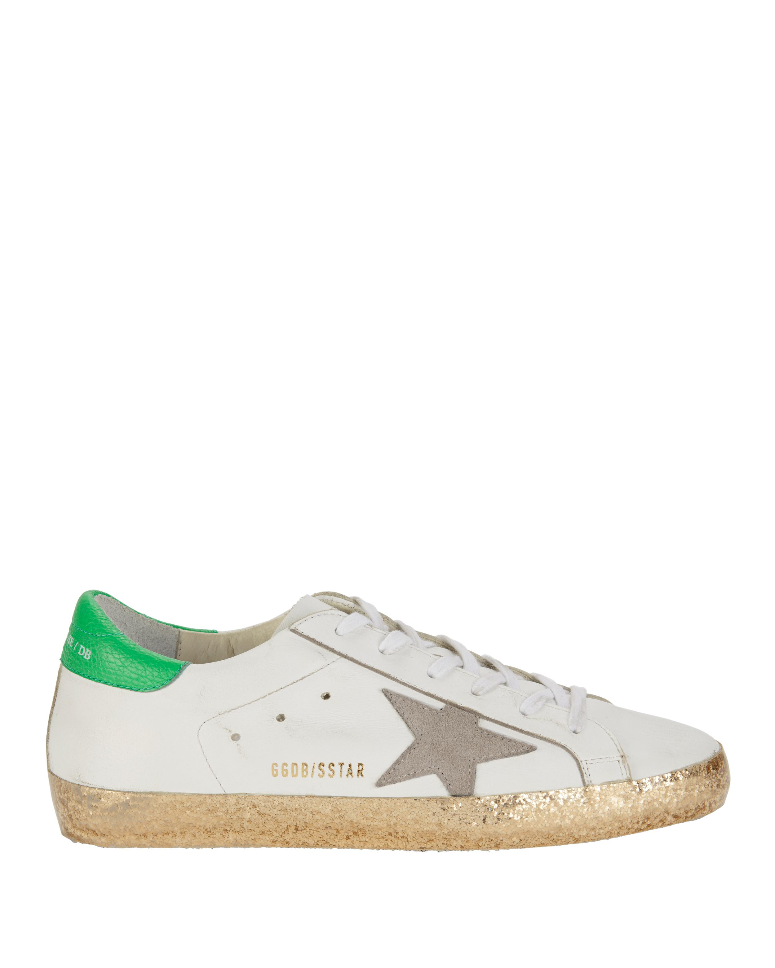 274596dfe2 Golden Goose Deluxe Brand Superstar White And Gold Glitter Sneakers ...