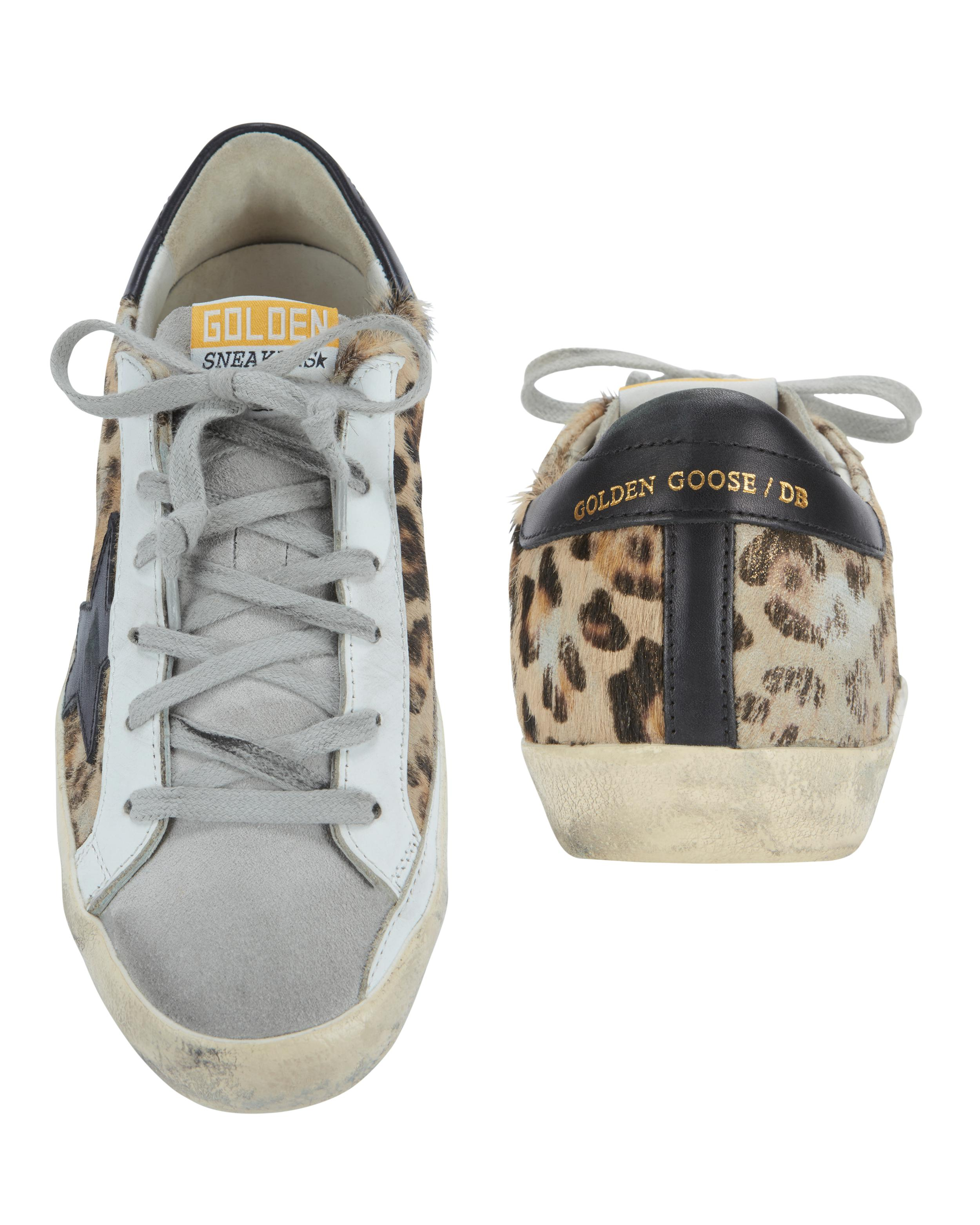 e0aa6e1dbd03 Golden Goose Deluxe Brand Superstar Snow Leopard Low-top Sneakers in ...