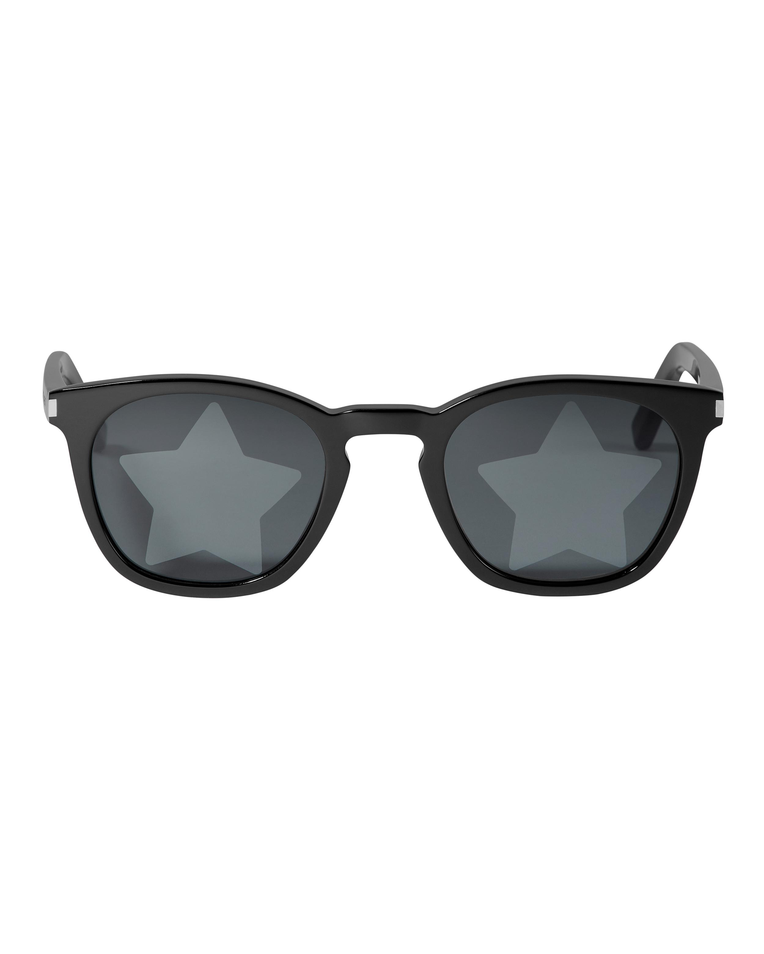 c19491973b Lyst - Saint Laurent Star-embossed Sunglasses in Black