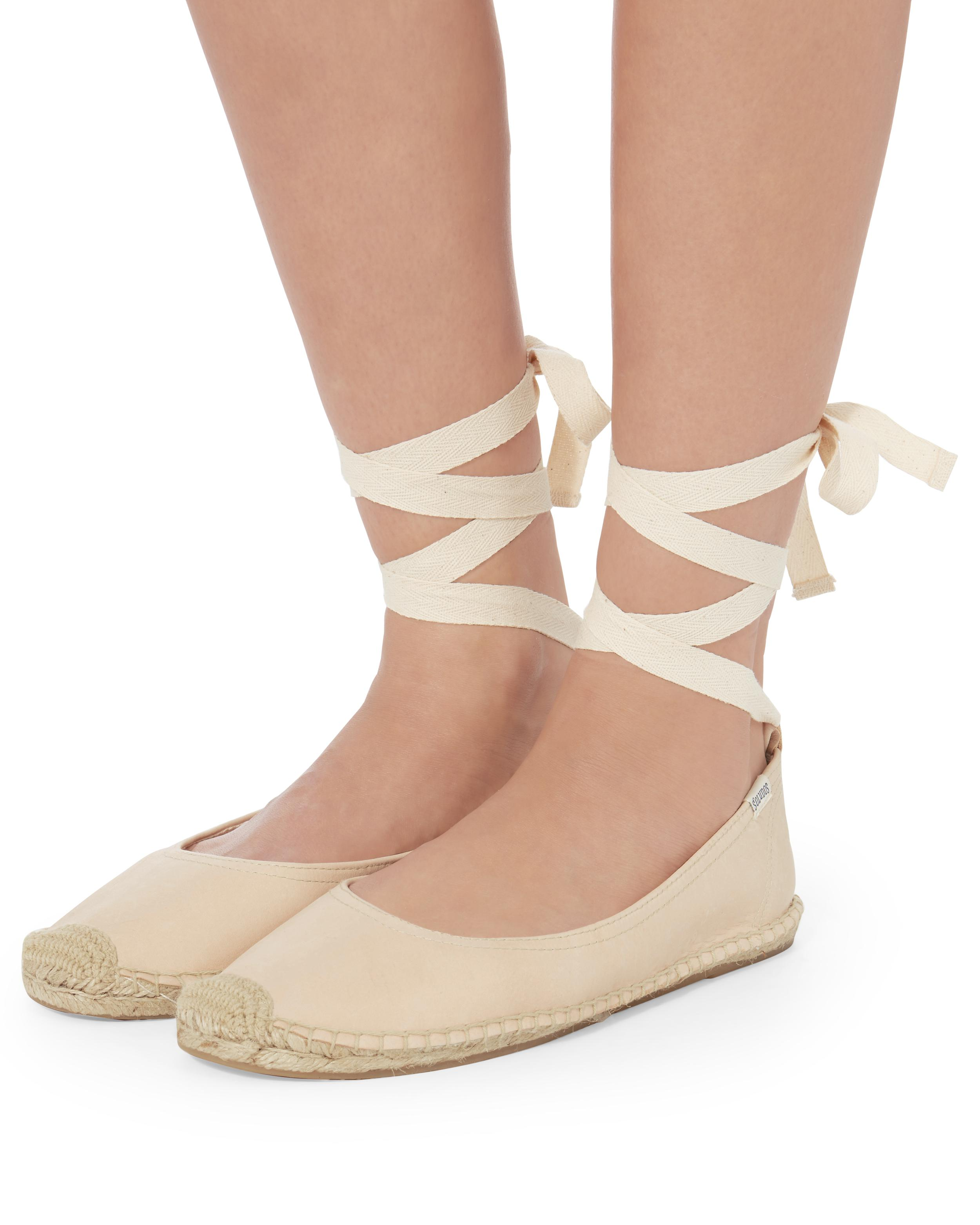 Soludos Ballet Tie-Up Flat
