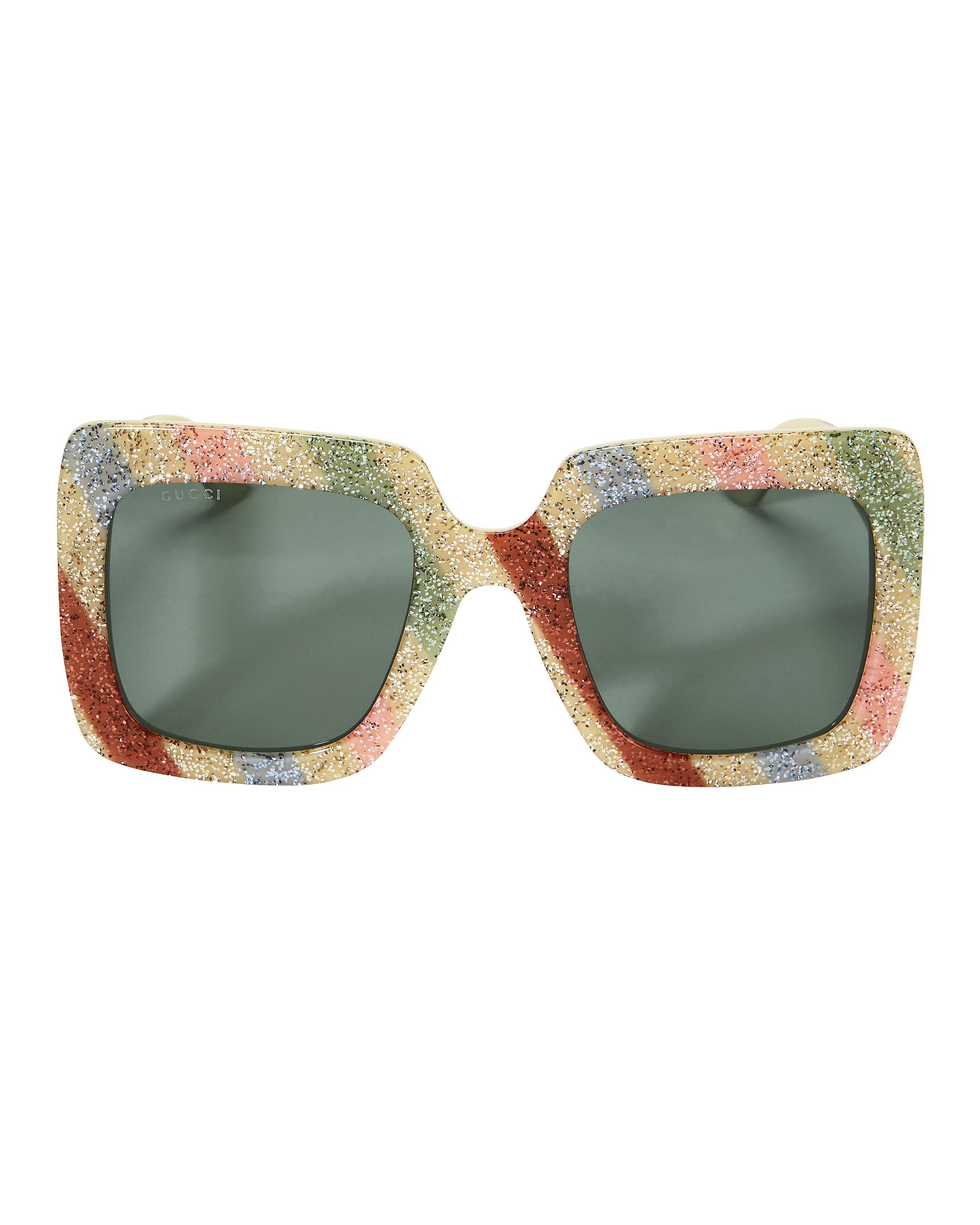 5235c84a62 Gucci - Multicolor Oversized Glitter Sunglasses - Lyst. View fullscreen