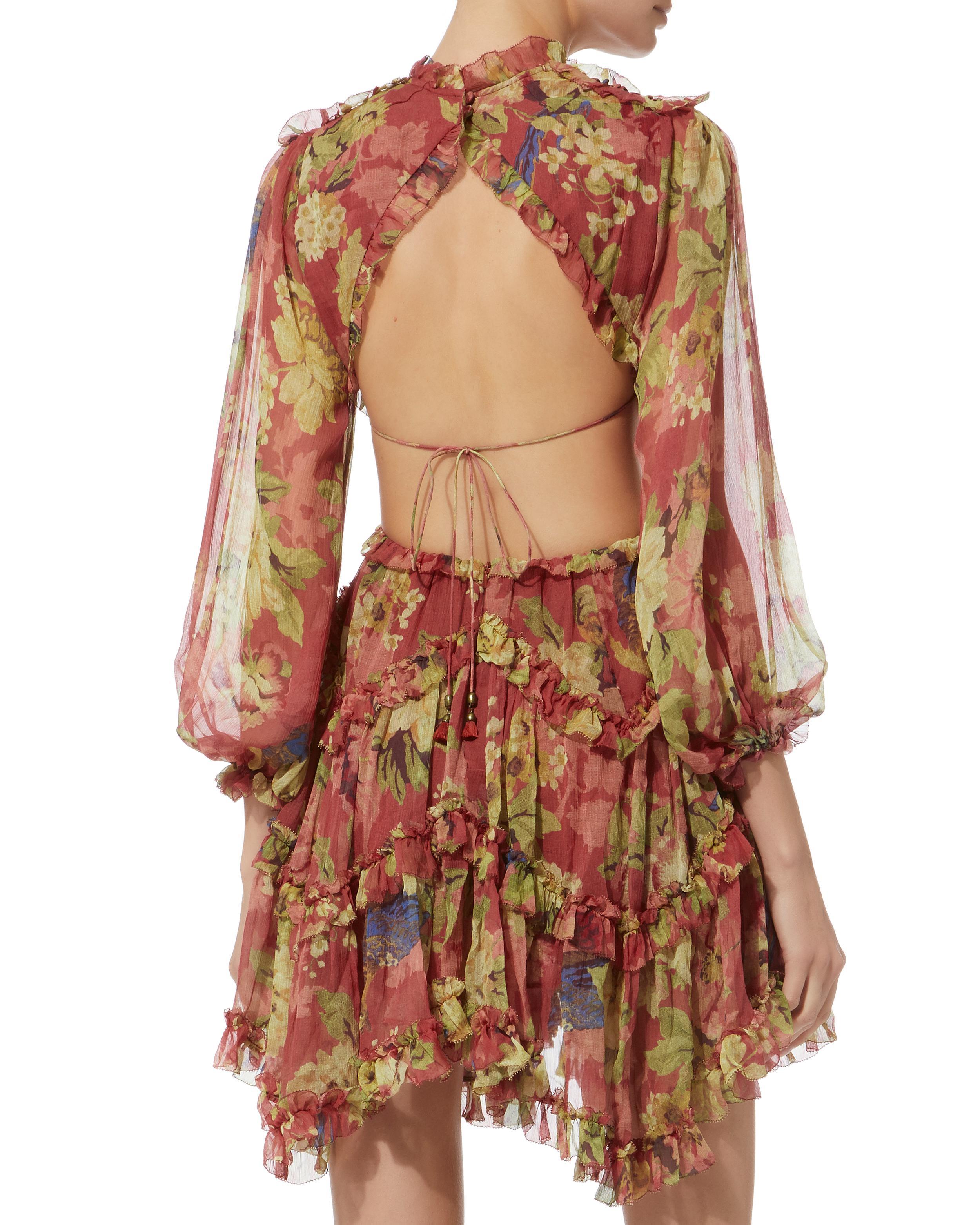 ab32ecff36e67 Zimmermann Melody Lace-up Short Dress - Lyst