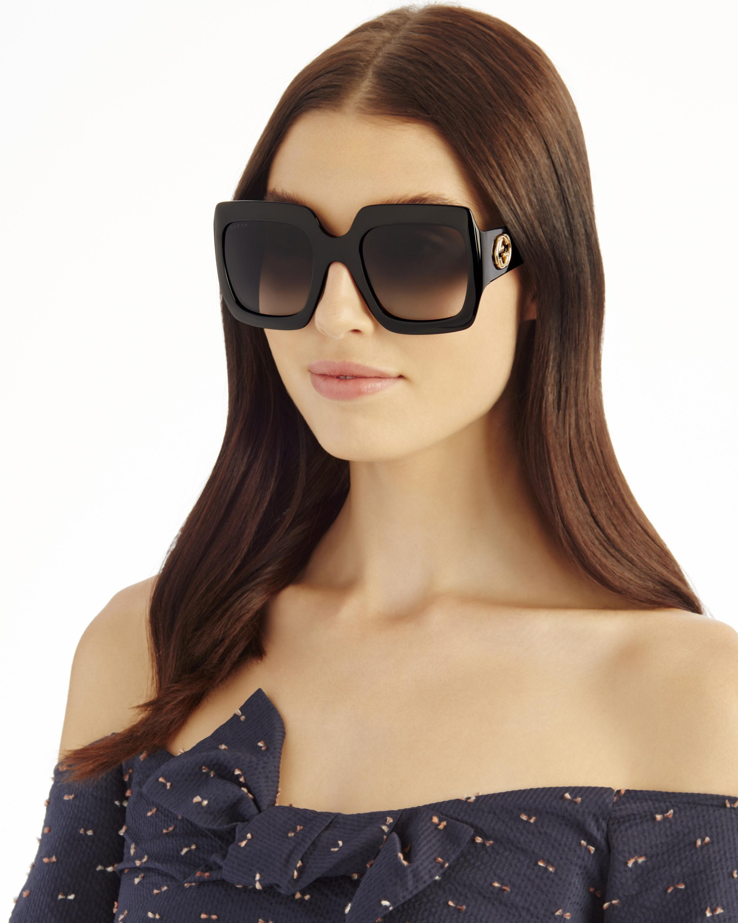 c4c0b14314 Gucci Oversized Square Sunglasses Glitter - Image Of Glasses