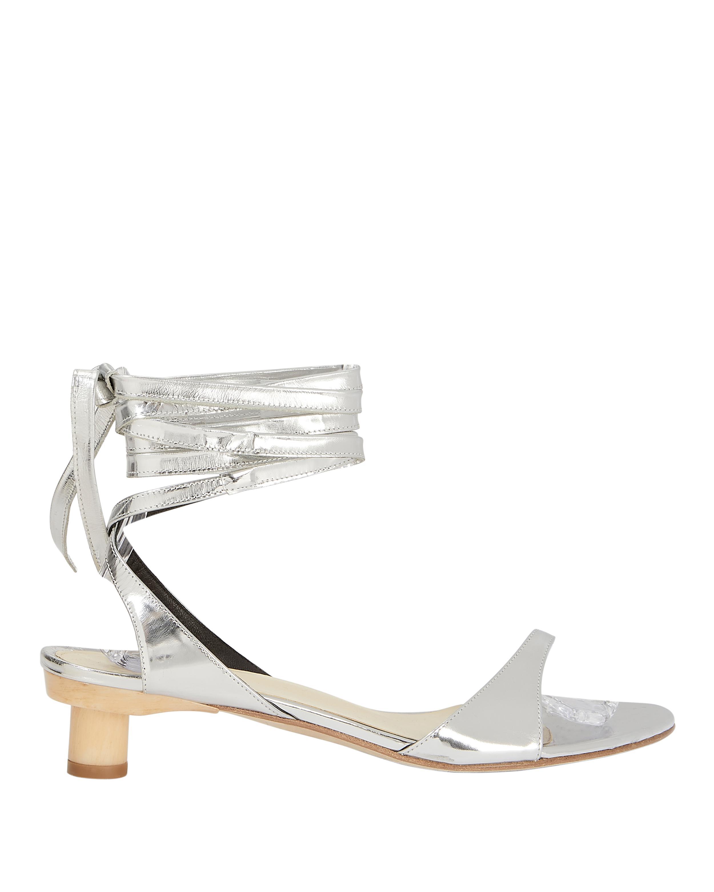 c05ae2eae Lyst - Tibi Scott Metallic Wrap Sandals in Metallic