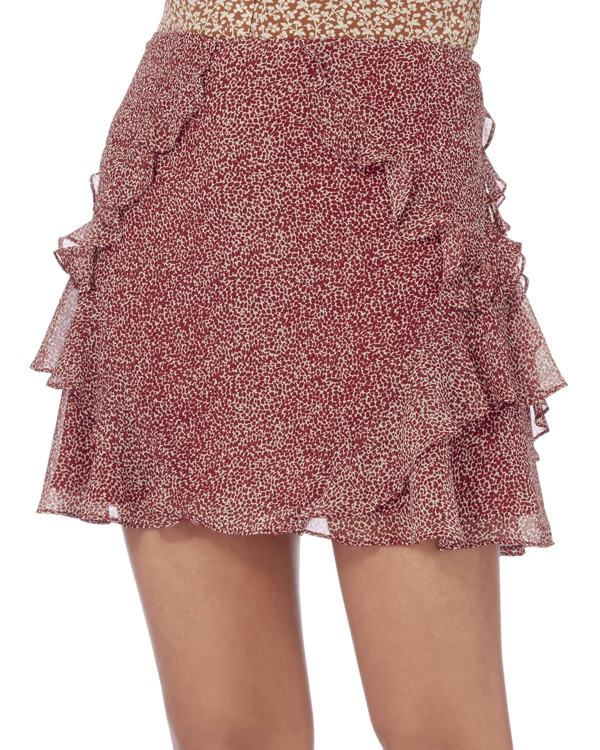 588a661719 10 Crosby Derek Lam Red Dot Ruffle Mini Skirt in Red - Lyst