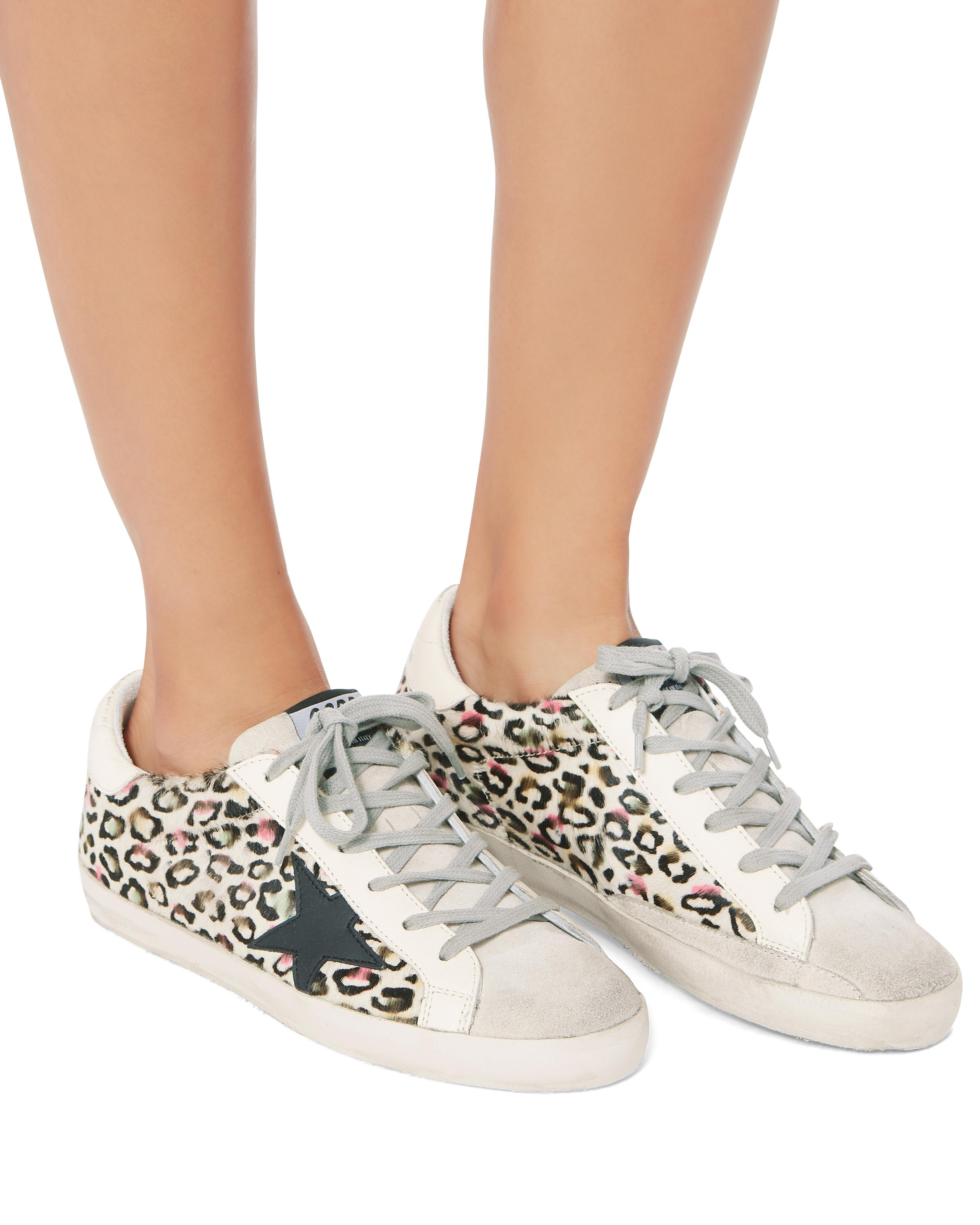 newest ed409 06ad1 Golden Goose Deluxe Brand Superstar Animal Print Sneakers - Lyst