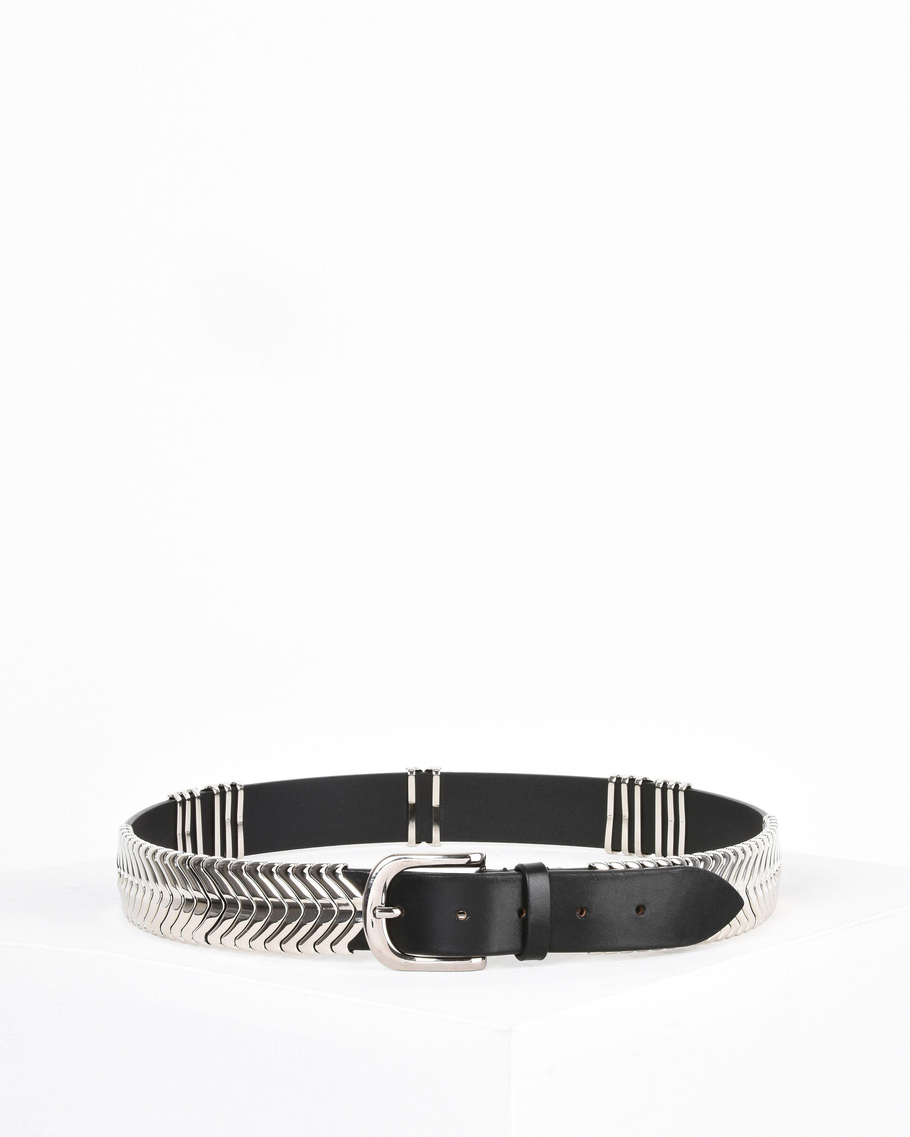 Tehora Embellished Leather Belt - Silver Isabel Marant BAcInox
