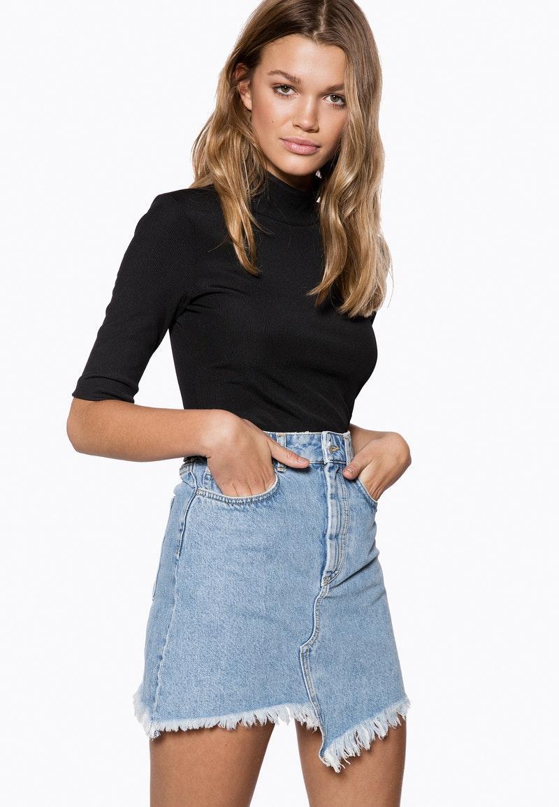 94b2896f2095 Ivyrevel - Raw Edge Denim Skirt Blue - Lyst. View fullscreen