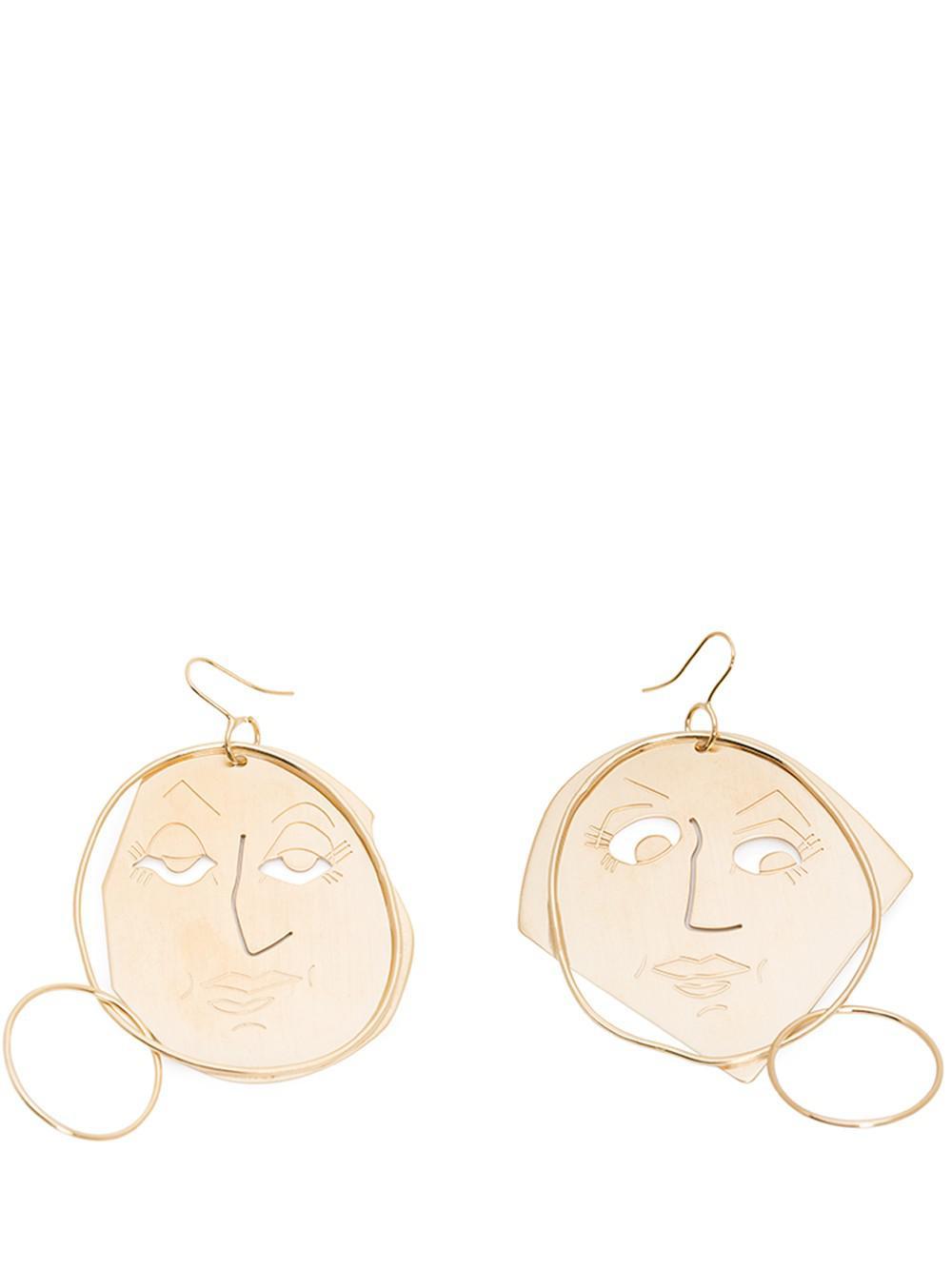 Moon Face Earrings in Sapphire Eco Brass J.W.Anderson sB2T6SmAoJ