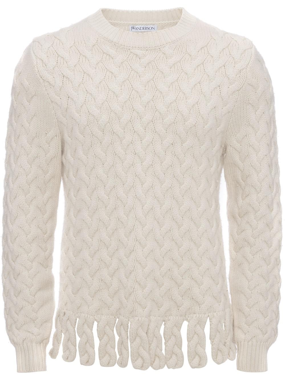 Free Shipping With Credit Card fringe chunky jumper - White J.W.Anderson Cheap 2018 32DSdp