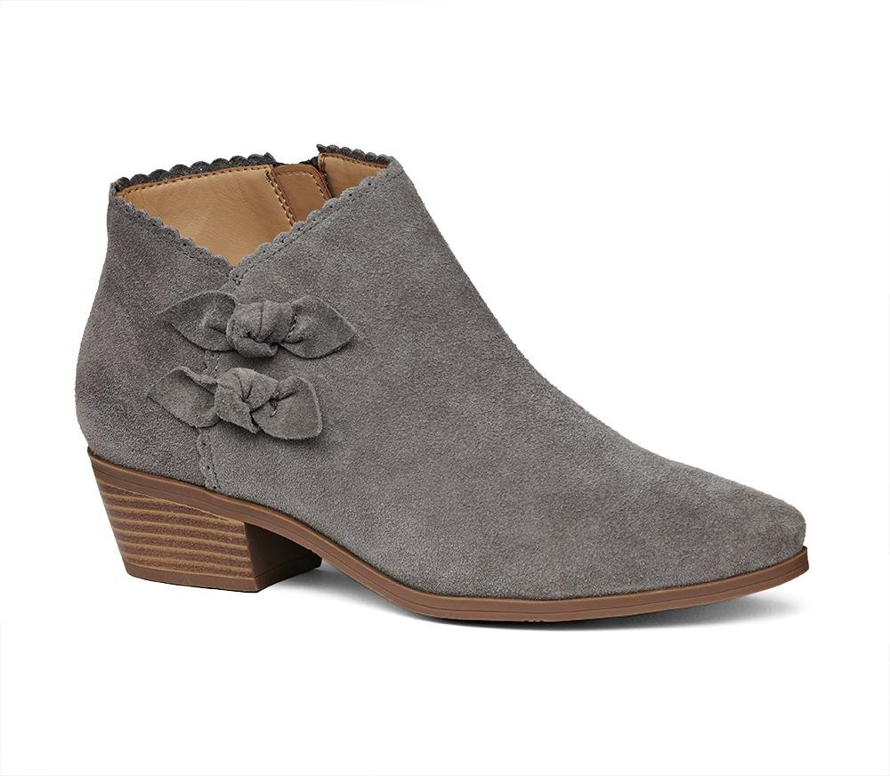 e0d60cd674fa Lyst - Jack Rogers Kali Suede Bootie in Gray