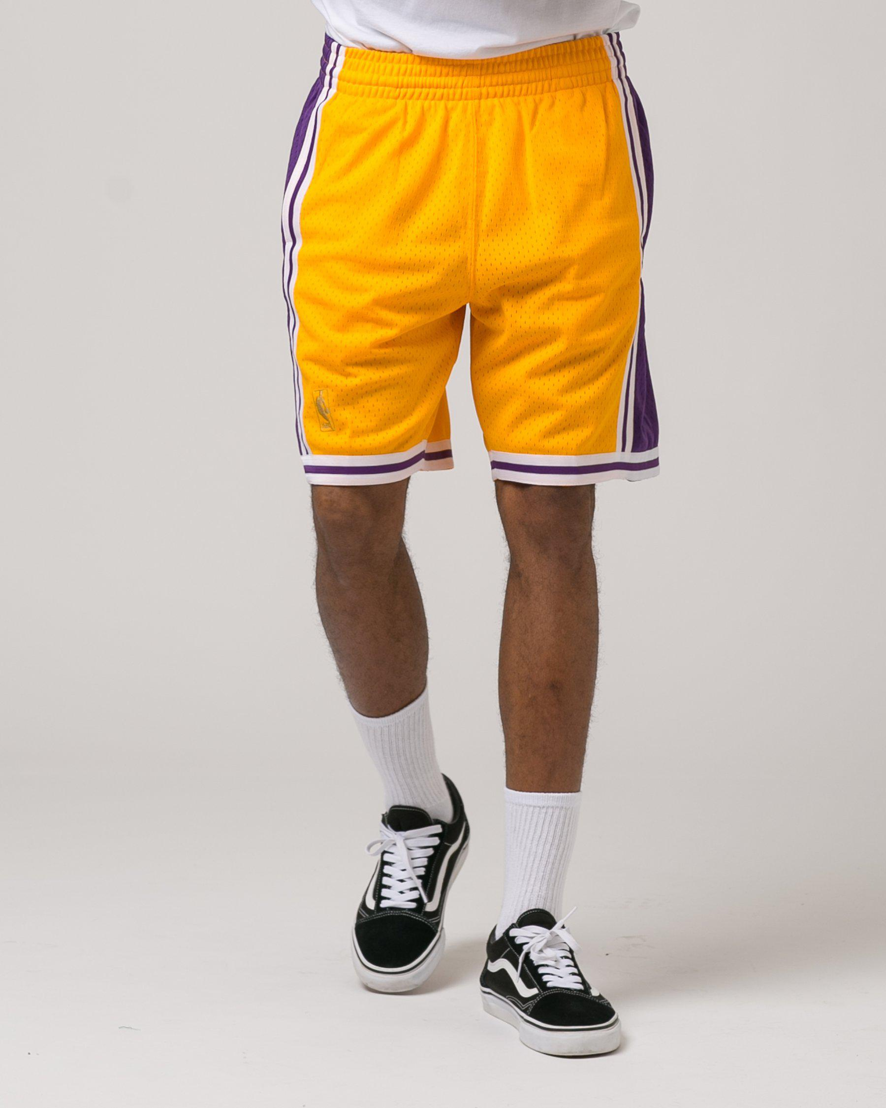 4884e23fc7df ... Lyst - Mitchell Ness Los Angeles Lakers Swingman Shorts in ...