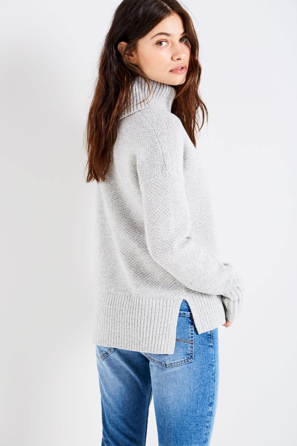 95c2b71535f Lyst - Jack Wills Adelaide Textured Roll Neck Sweater in Gray