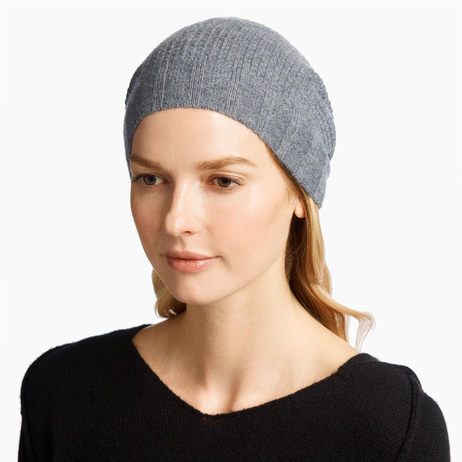 f38a98bb59bd1 James Perse Cashmere Thermal Beanie in Gray - Lyst