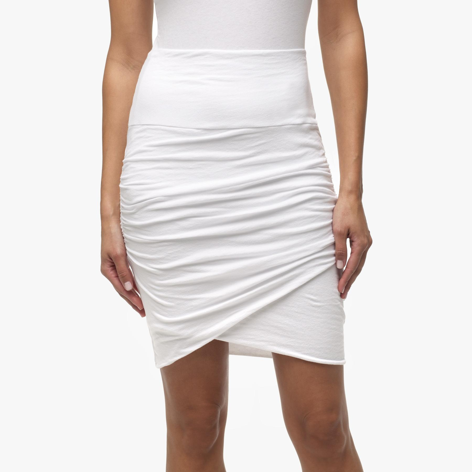 high waist wrap skirt in white lyst