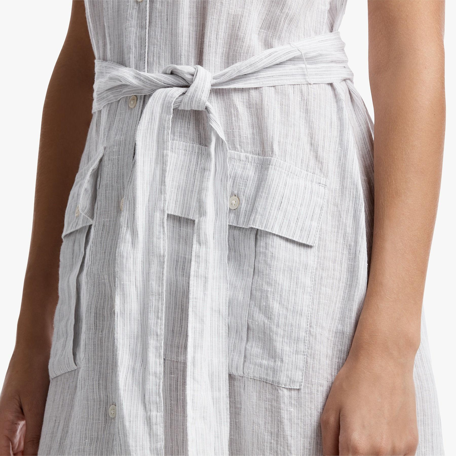 00e710236f Lyst - James Perse Striped Linen Shirt Dress in White