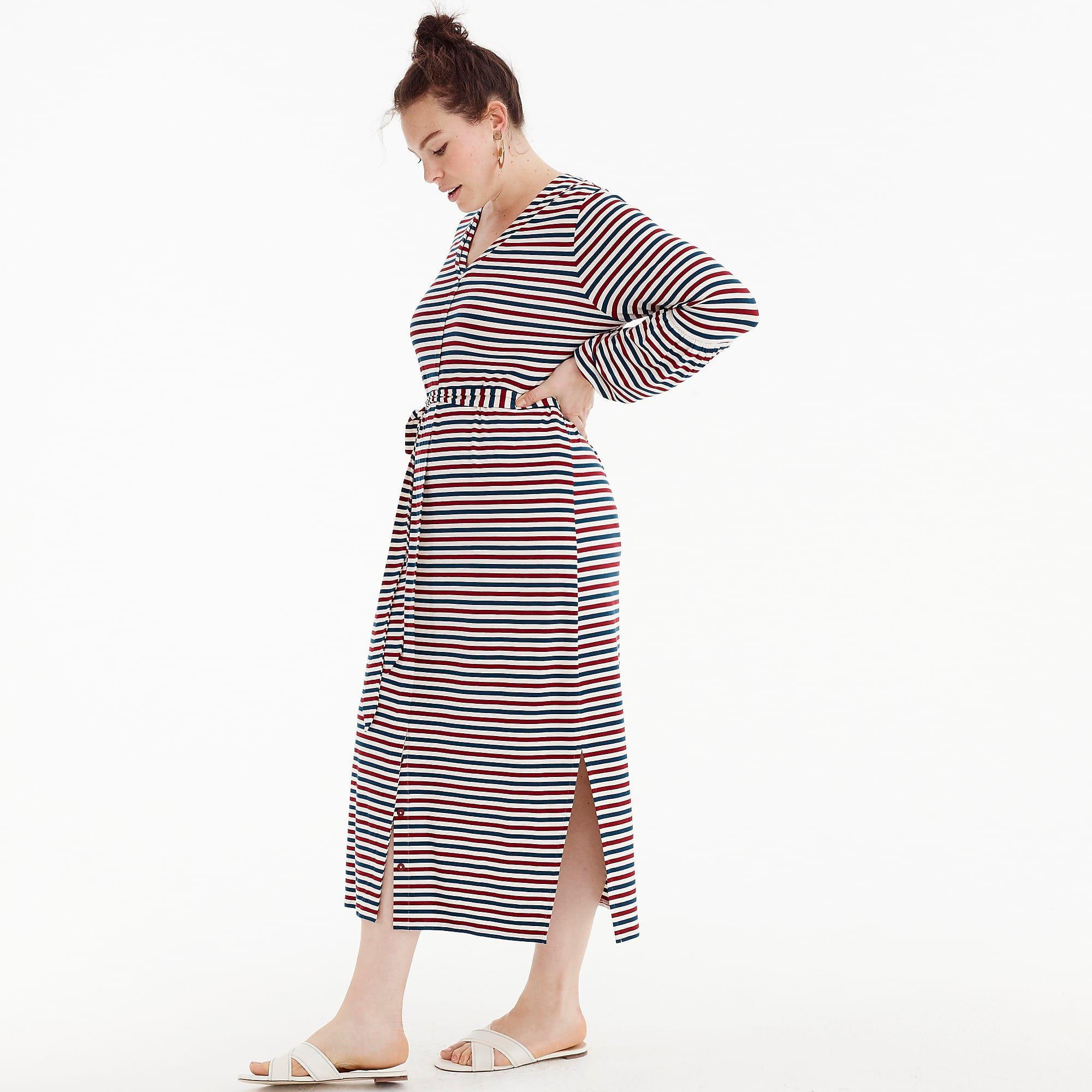 d46629a3a8 J.Crew Universal Standard Jersey Long-sleeve Maxi Dress In Stripe - Lyst