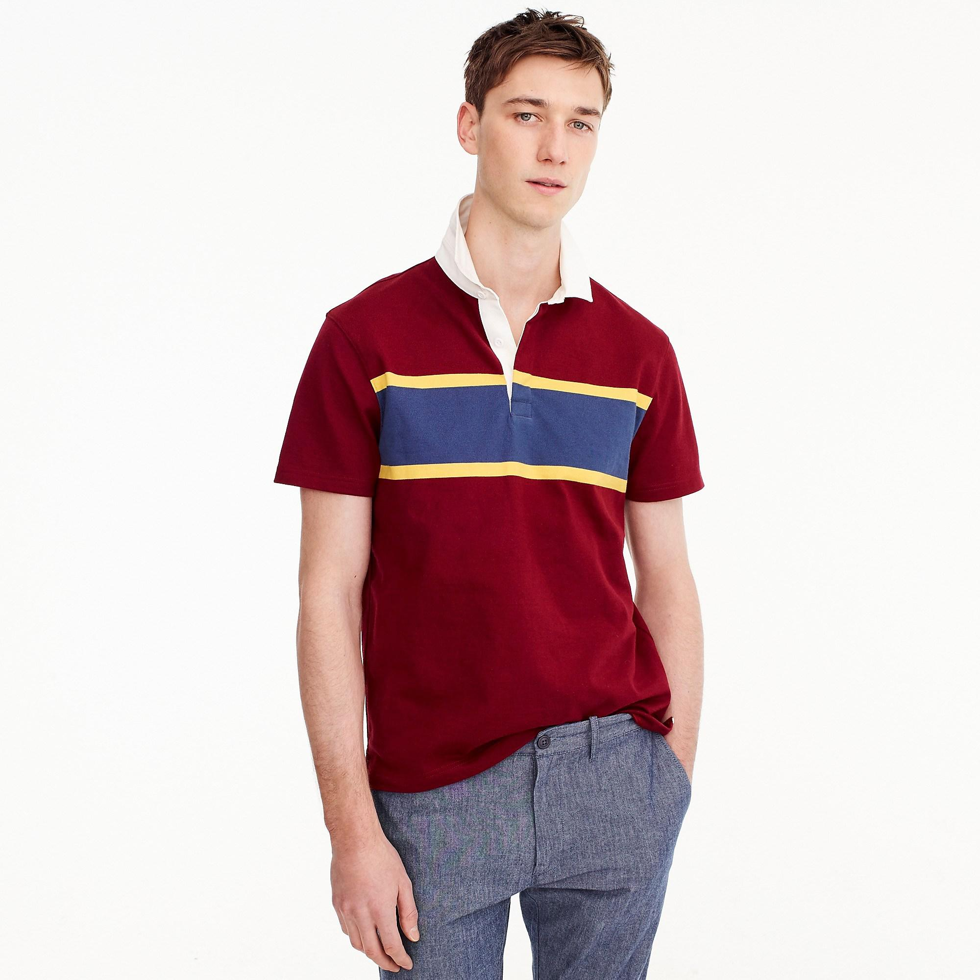 6559239c662 Lyst - J.Crew Tall Short-sleeve 1984 Rugby Shirt In Red in Red for Men