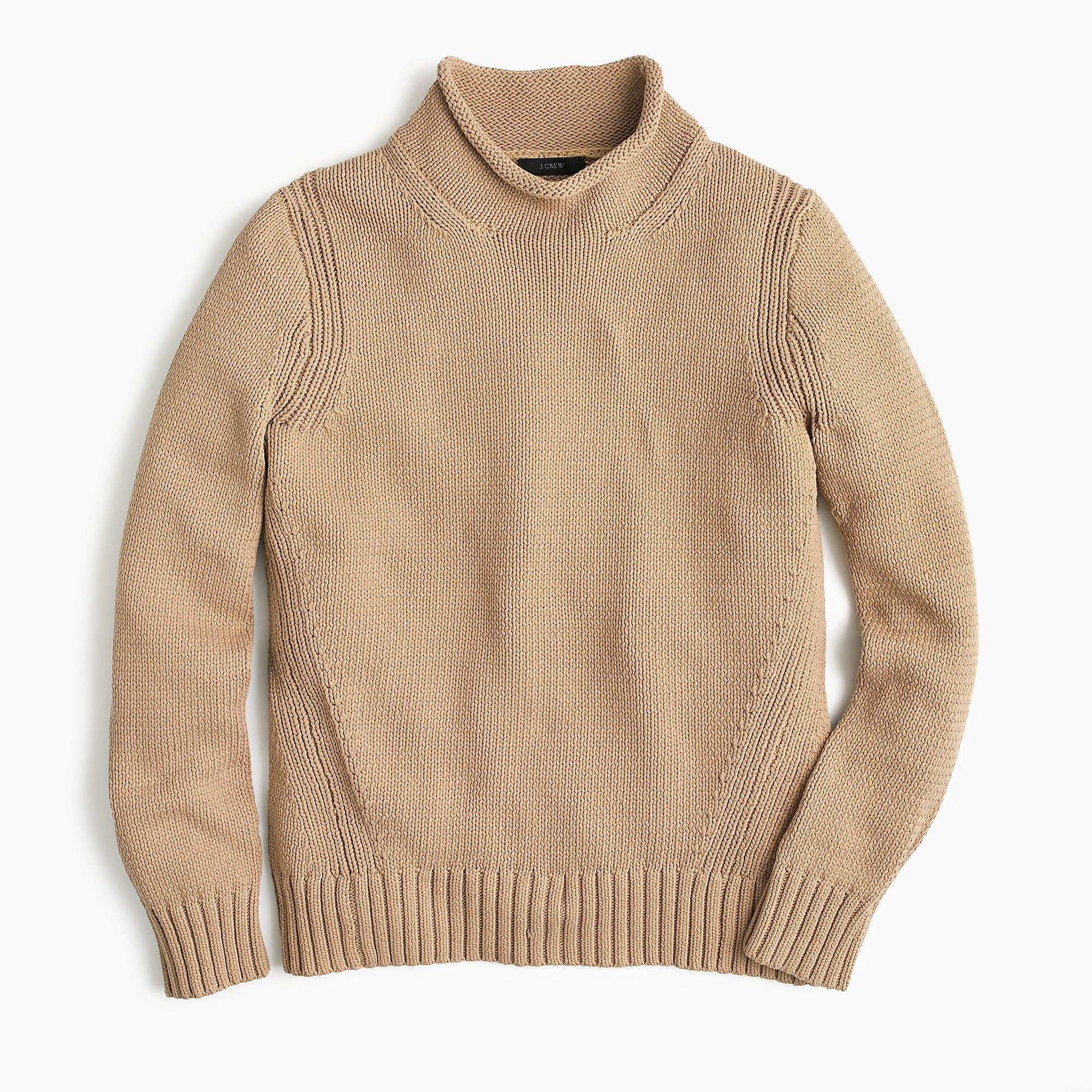 Lyst Jcrew Womens 1988 Rollneck Sweater In Natural