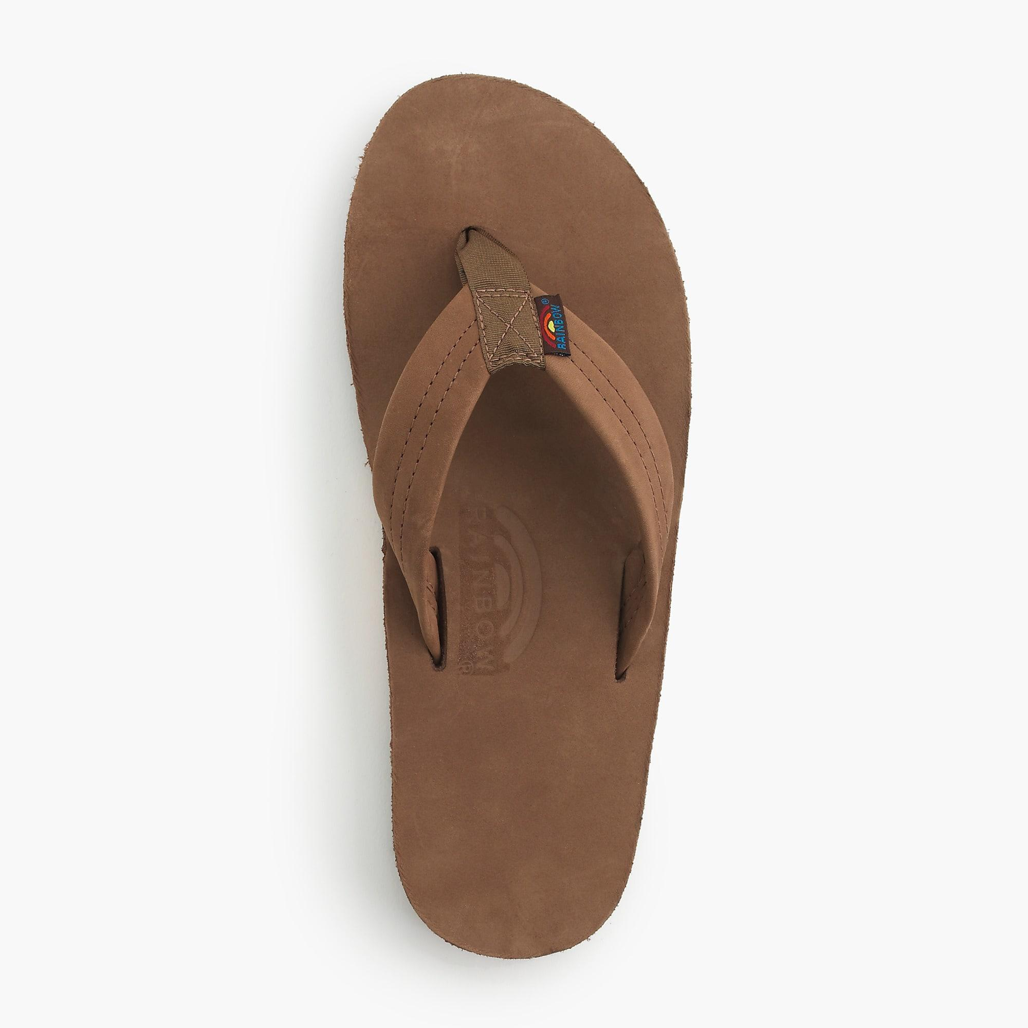 1f51656e6d23 Lyst - Rainbow Sandals Leather Flip-flops in Brown for Men